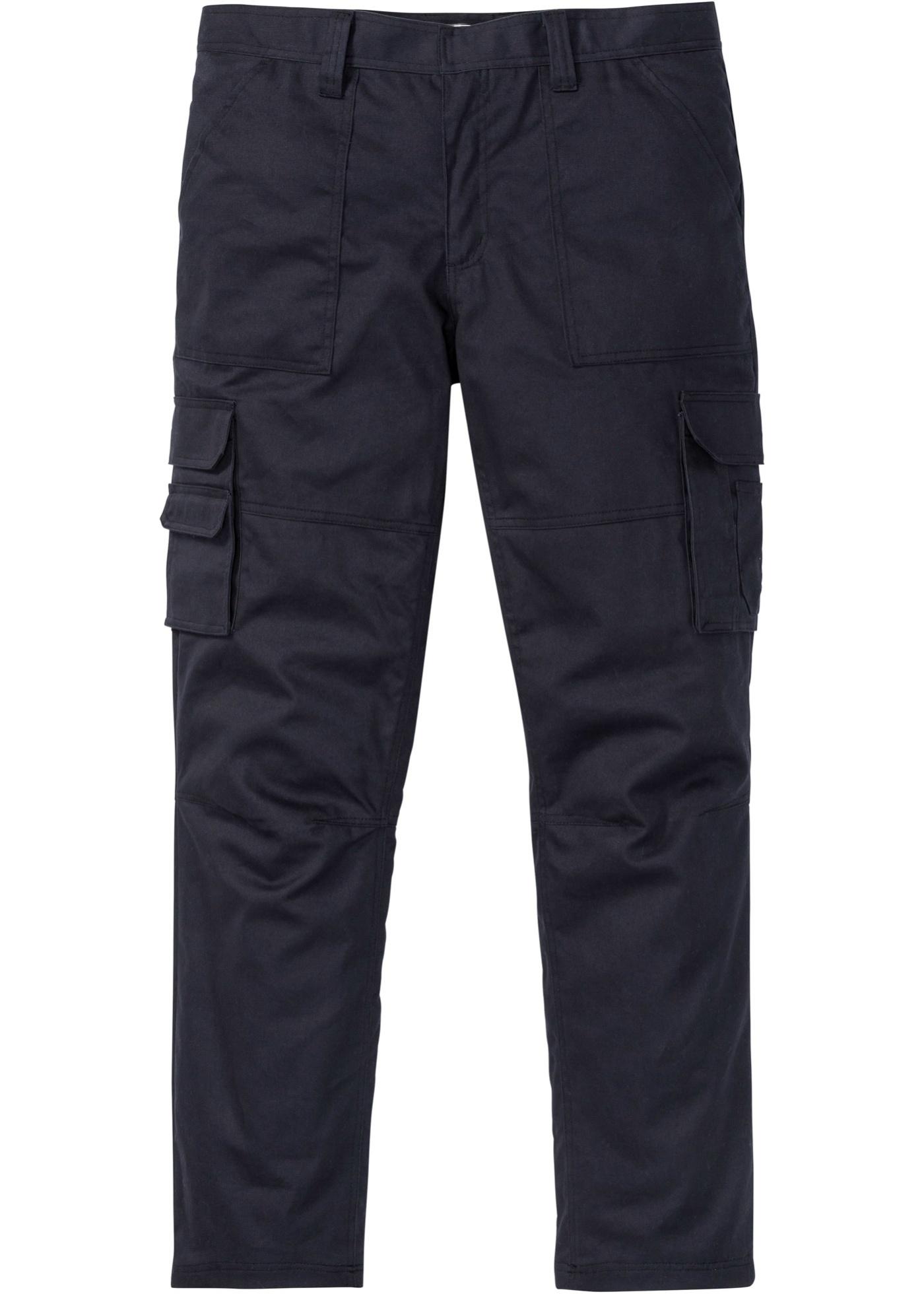 Herren bonprix Thermo-Cargo-Hose m. Teflonausrüstung Loose fit blau, grau   06937251326570