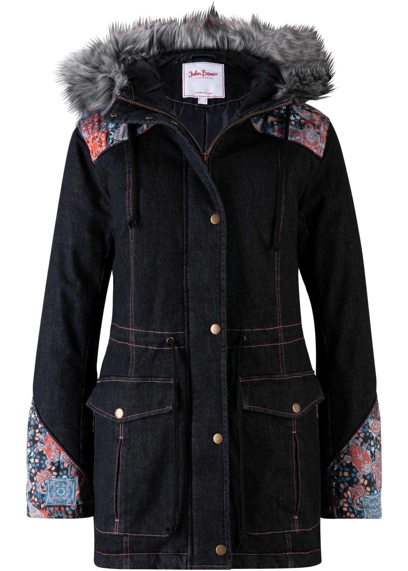 Winterparka langarm  in schwarz für Damen von bonprix