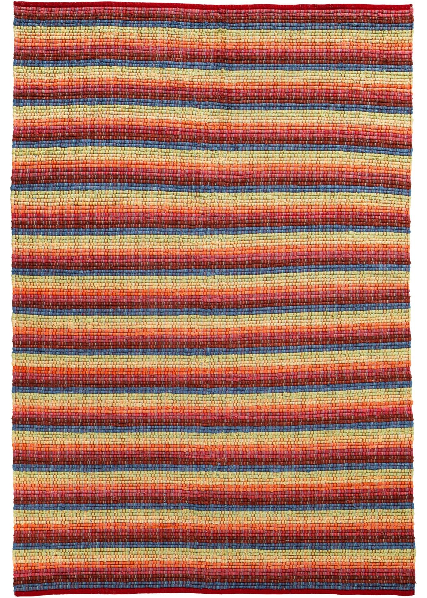 Kelim-Teppich mit bunten Streifen