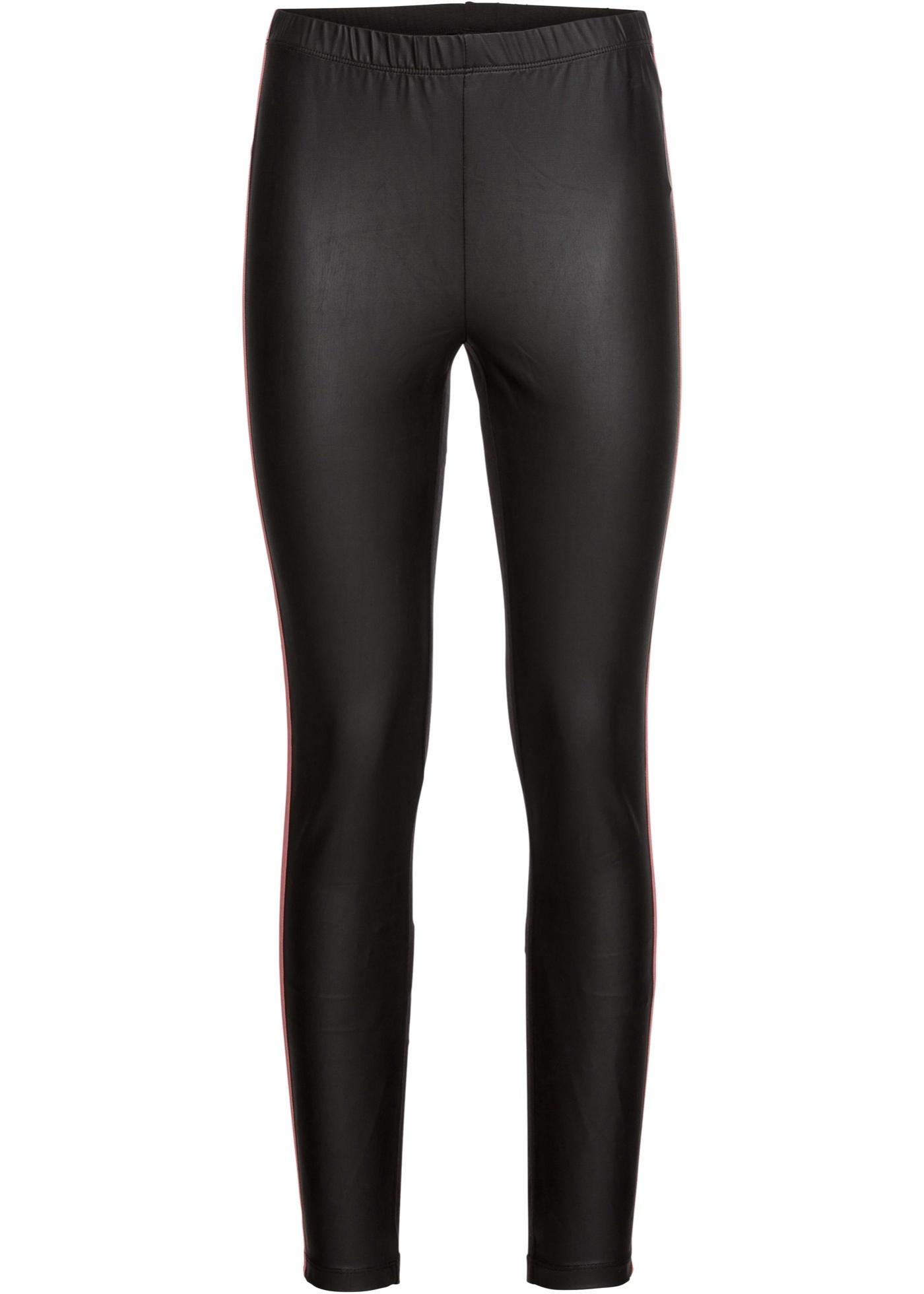 Leggings mit Streifen in schwarz für Damen von bonprix