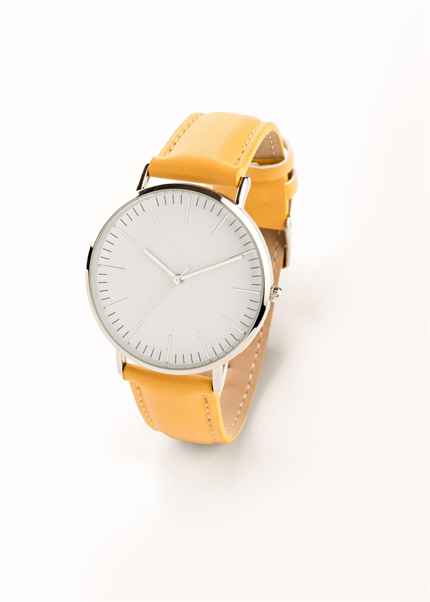 Armbanduhr in gelb für Damen von bonprix