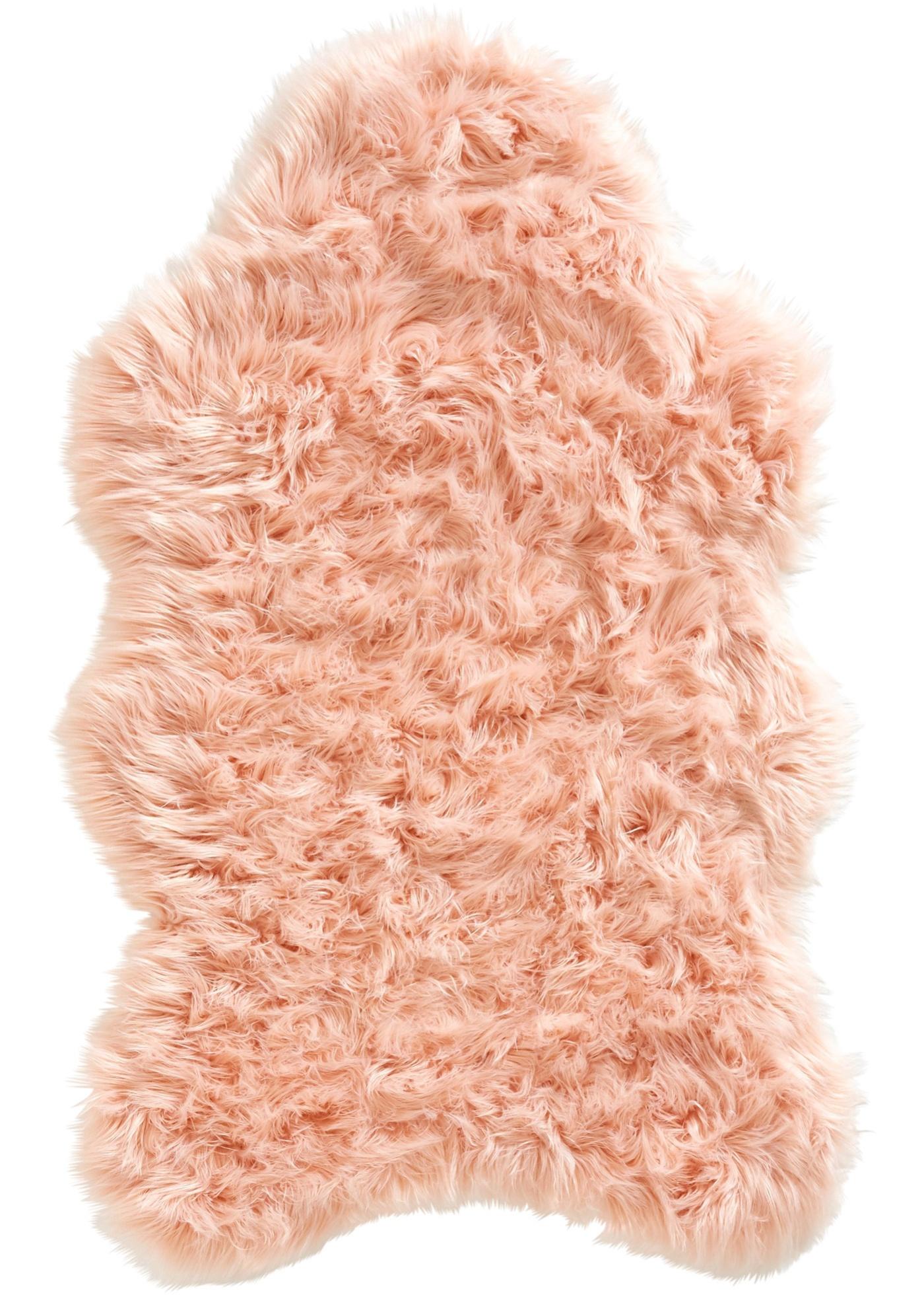 Synthetik Lammfell mit besonders dichtem Flor in rosa von bonprix