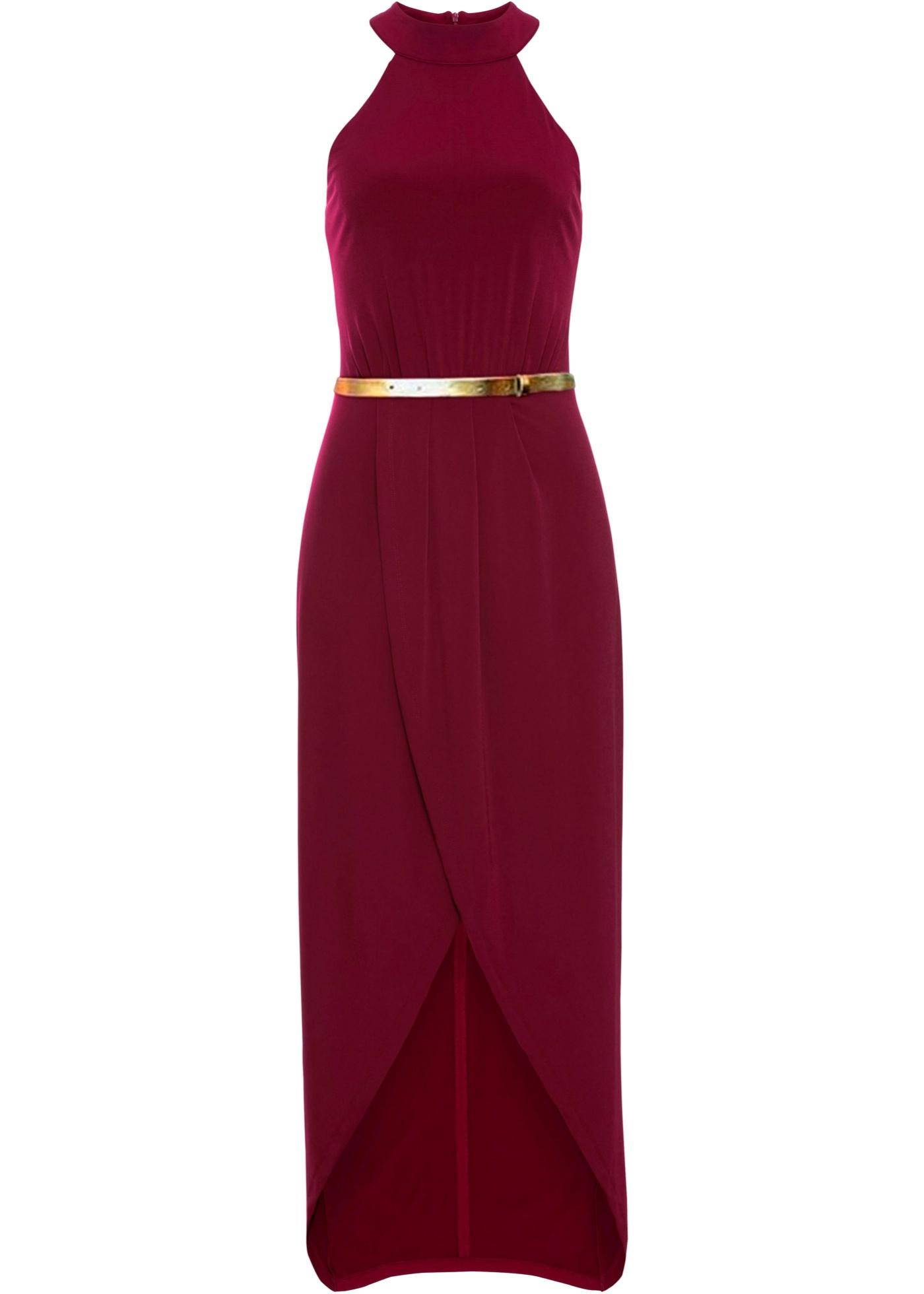 Festtagsmode - Maxi Neckholder Kleid › bonprix › rot  - Onlineshop Bonprix