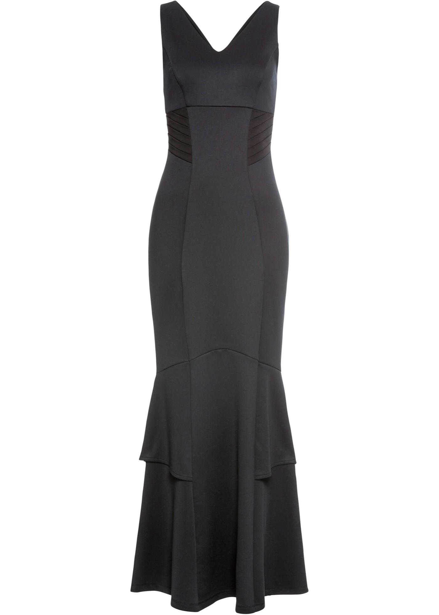 Abend-Maxikleid ohne Ärmel  in schwarz für Damen von bonprix