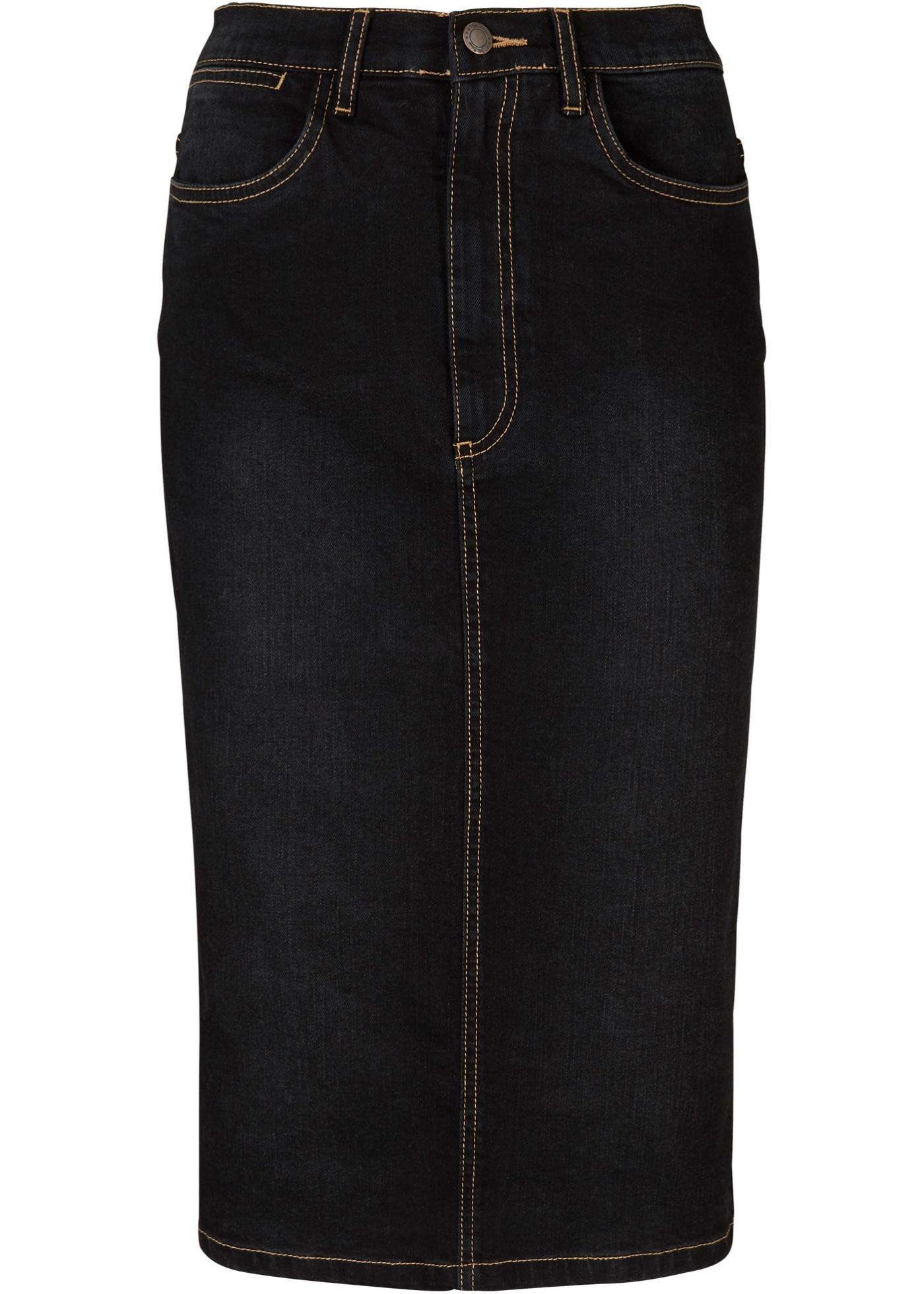 Stretch-Jeansrock in schwarz für Damen von bonprix