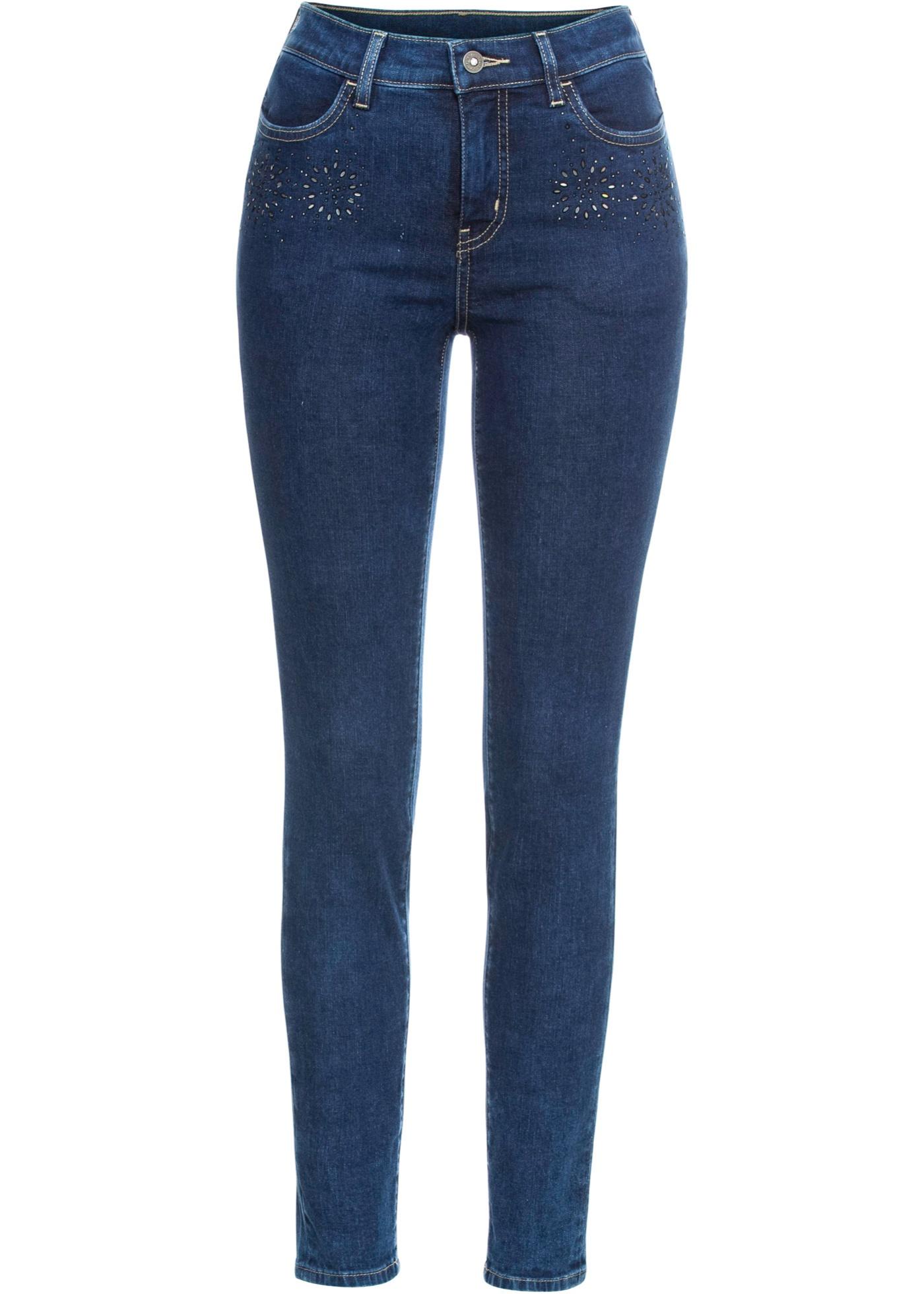 Stretch-Jeans in blau für Damen von bonprix