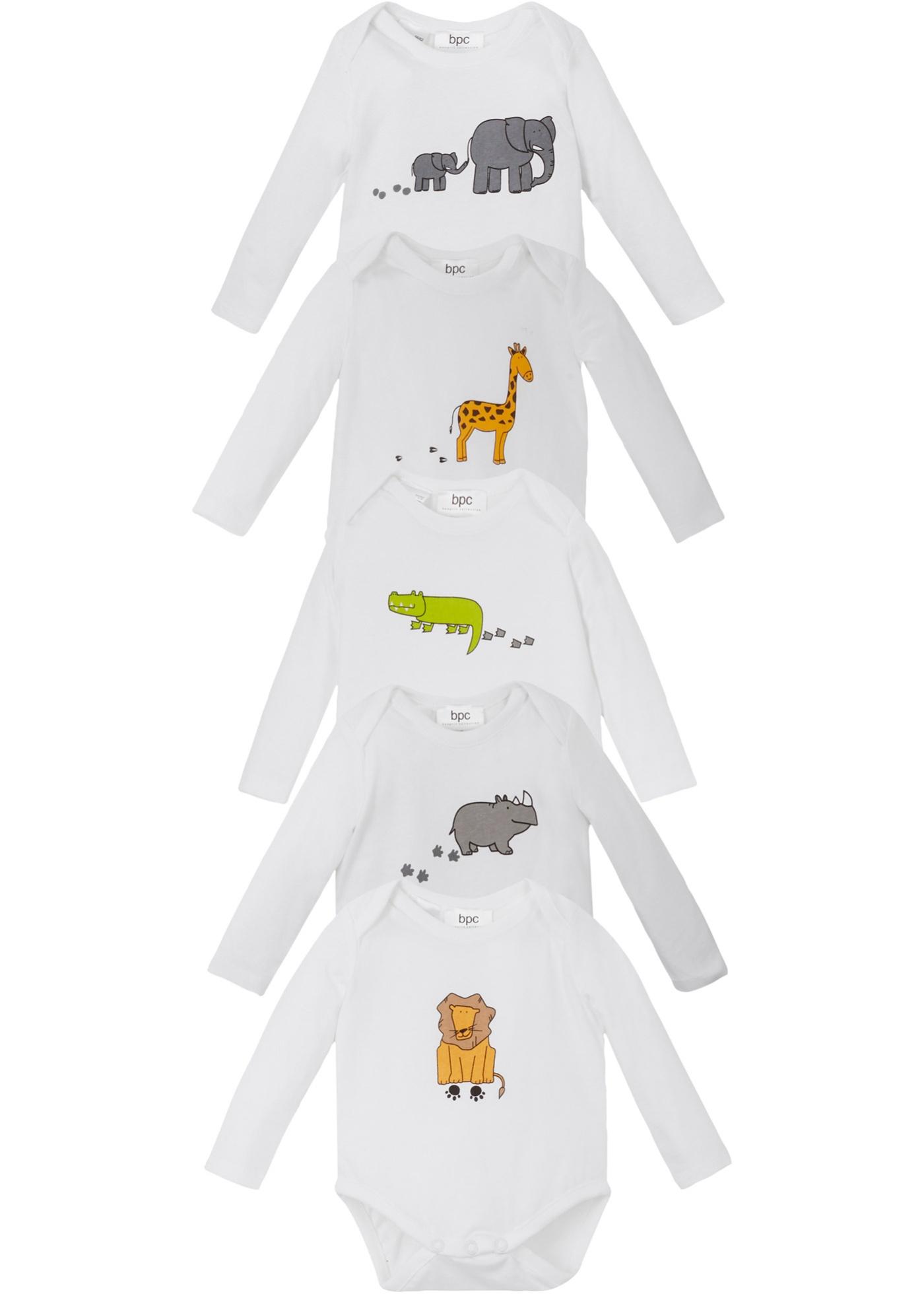 Baby Langarmbody (5er-Pack) Bio-Baumwolle