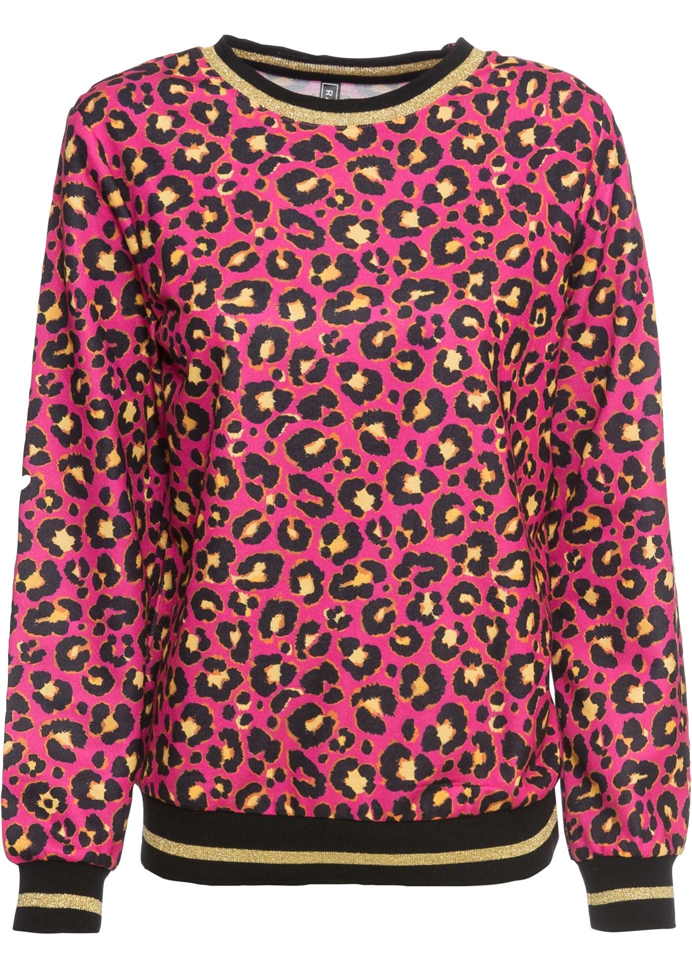 Sweatshirt langarm  in rosa (Rundhals) für Damen von bonprix