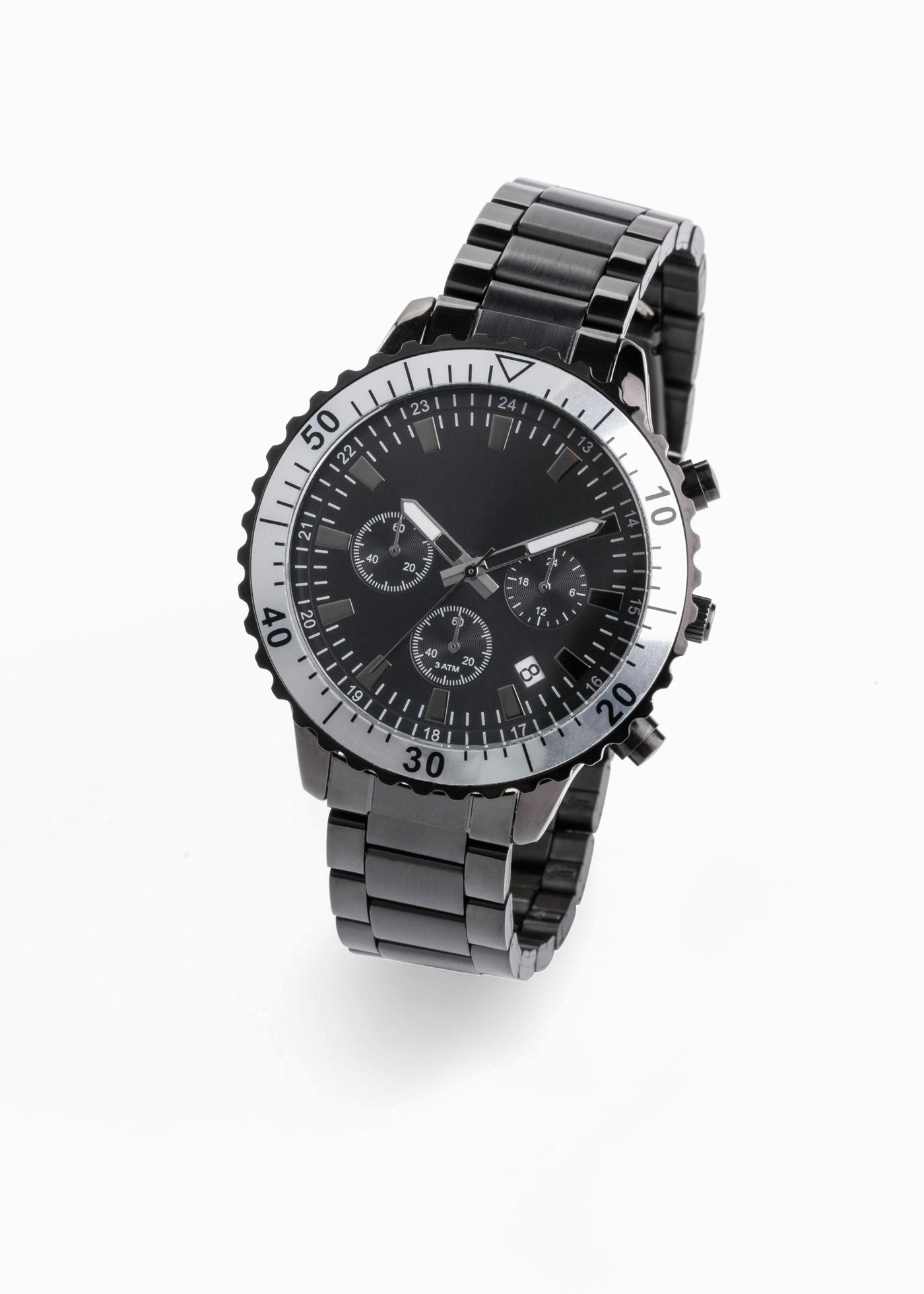 Herren-Chronograph in schwarz für Herren von bonprix