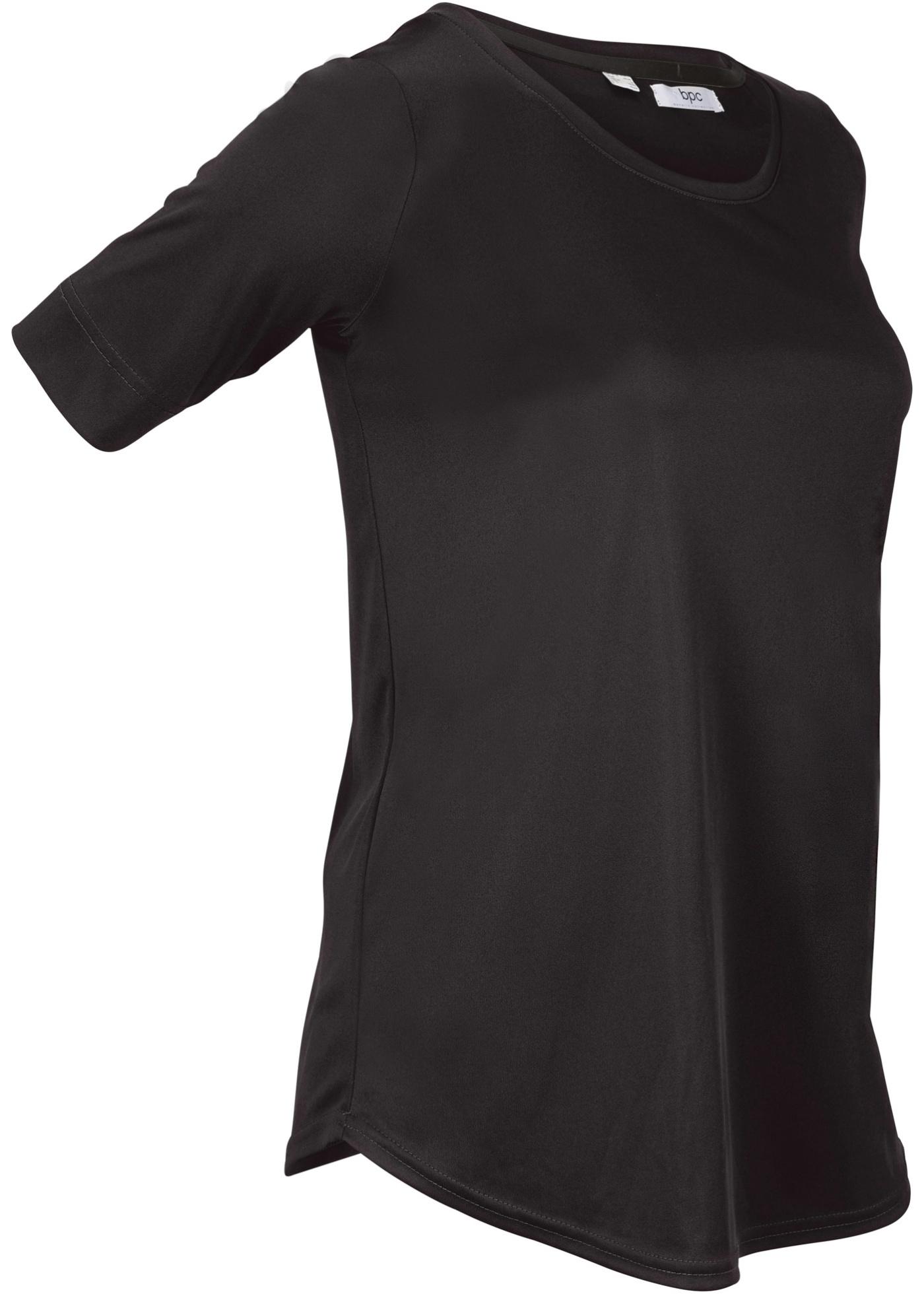 Sport-Shirt, halbarm in schwarz für Damen von bonprix