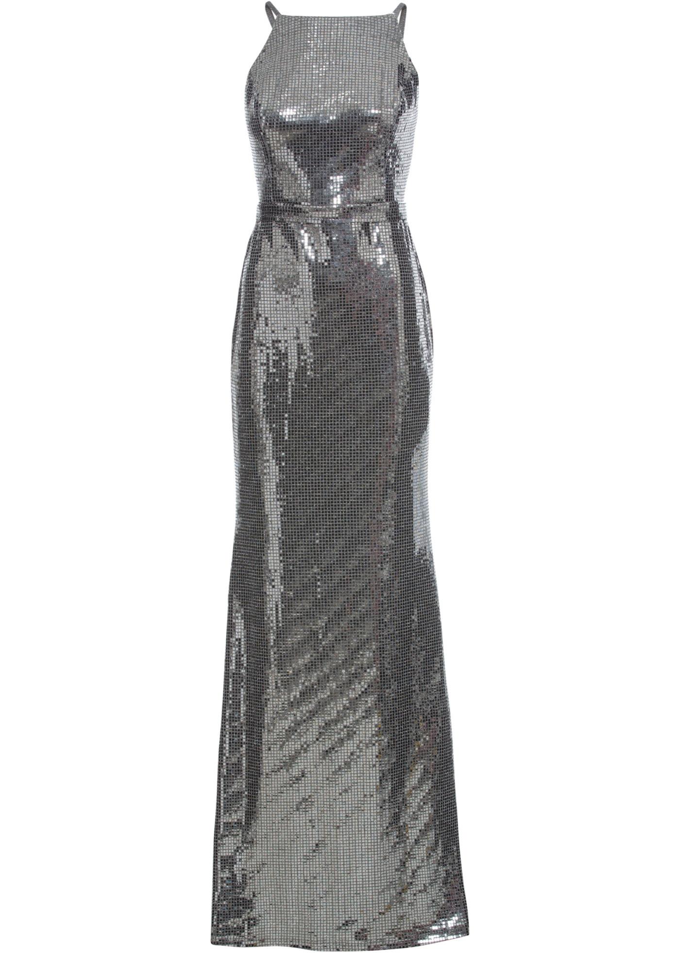 Kleid mit Pailetten ohne Ärmel  in silber für Damen von bonprix