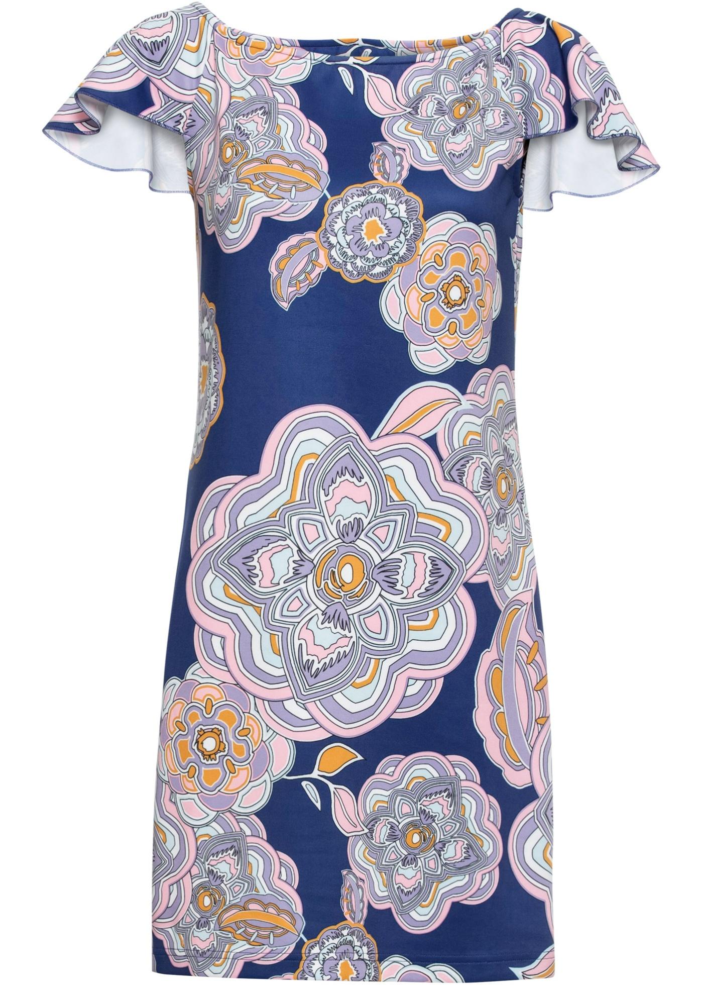 Sommerkleid Flügelärmel  in blau für Damen von bonprix