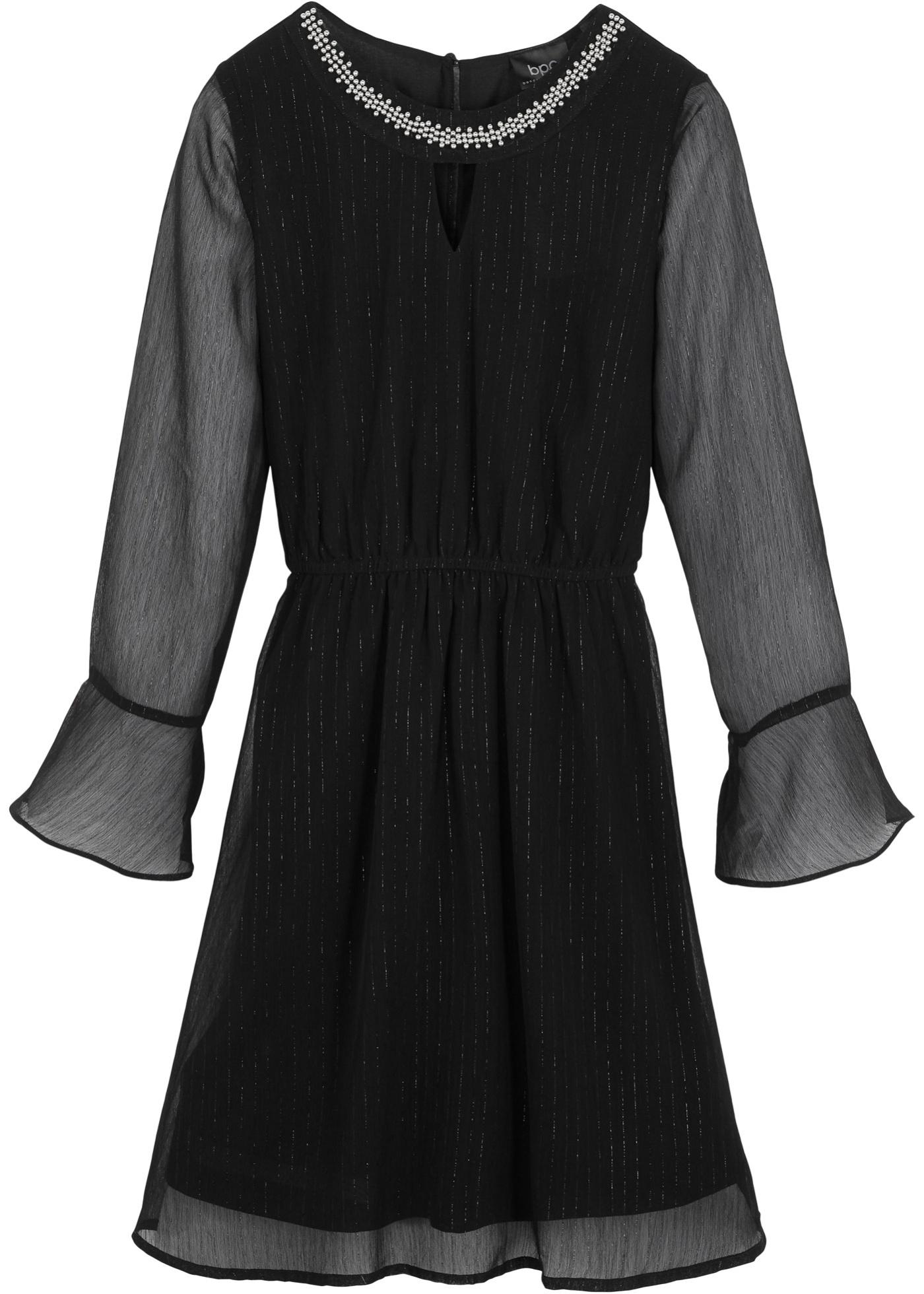 Festliches Mädchen Kleid langarm  in schwarz für Mädchen von bonprix