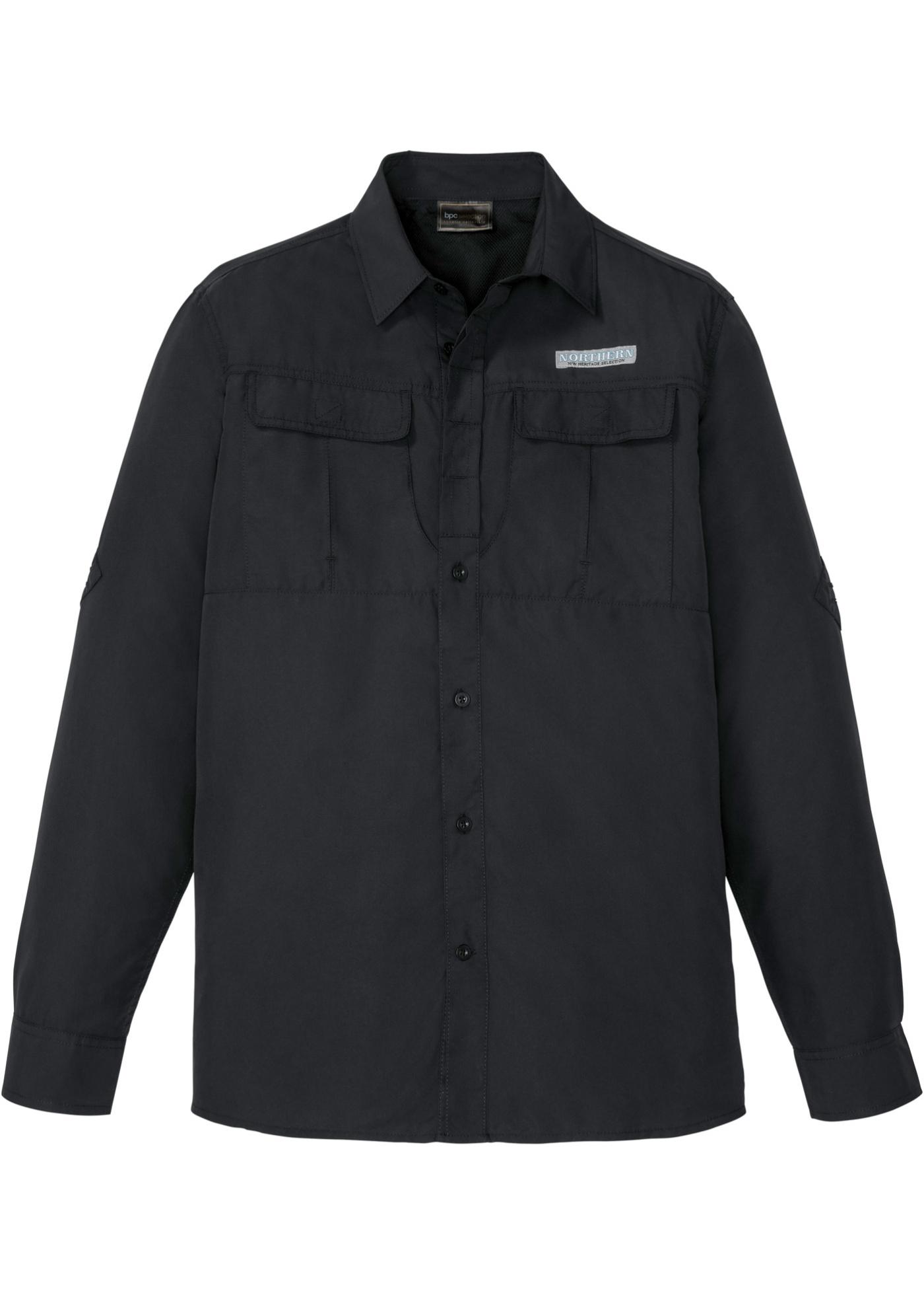 Funktions-Hemd langarm  in schwarz für Herren von bonprix
