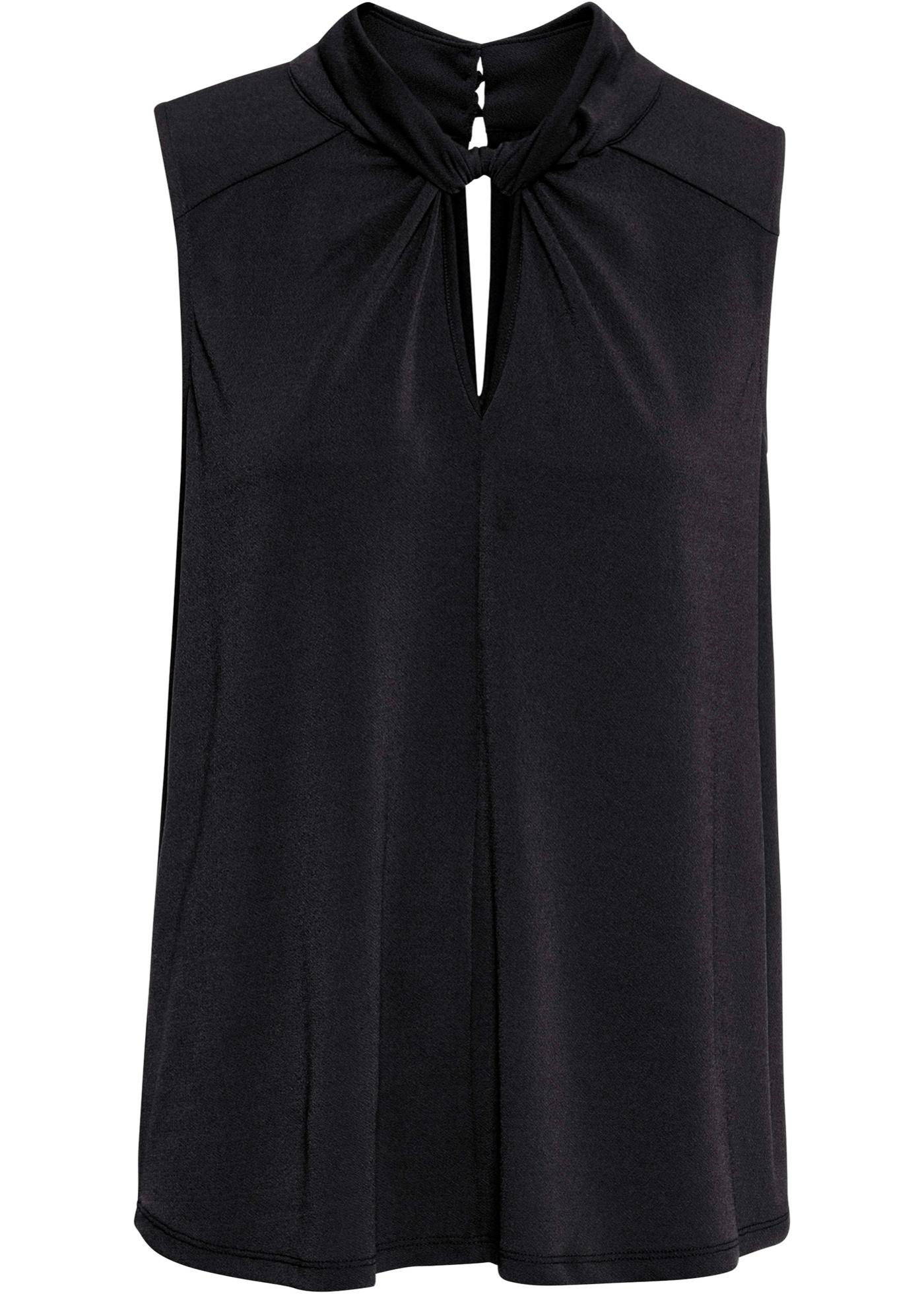 Top ohne Ärmel  in schwarz (Rundhals) für Damen von bonprix