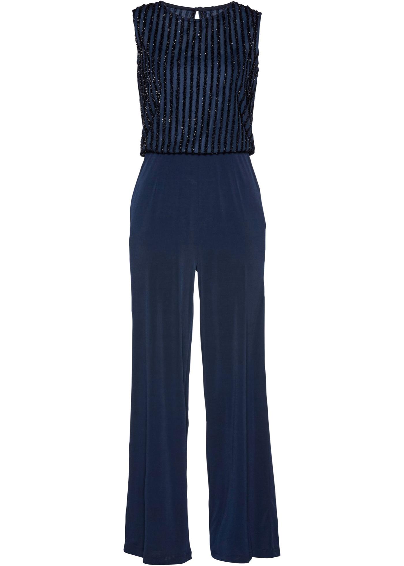 Jersey-Overall ohne Ärmel  in blau für Damen von bonprix