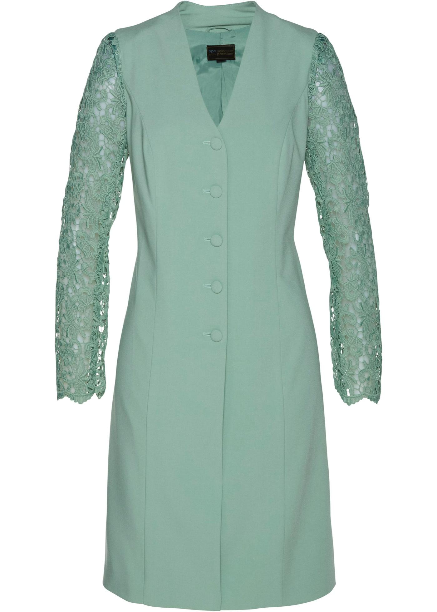 Longblazer mit Spitze langarm  in grün für Damen von bonprix