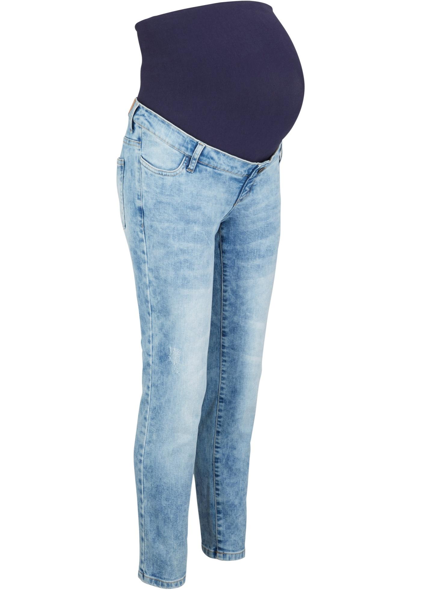 Knöchelfreie Umstandsjeans, Straight in blau für Damen von bonprix