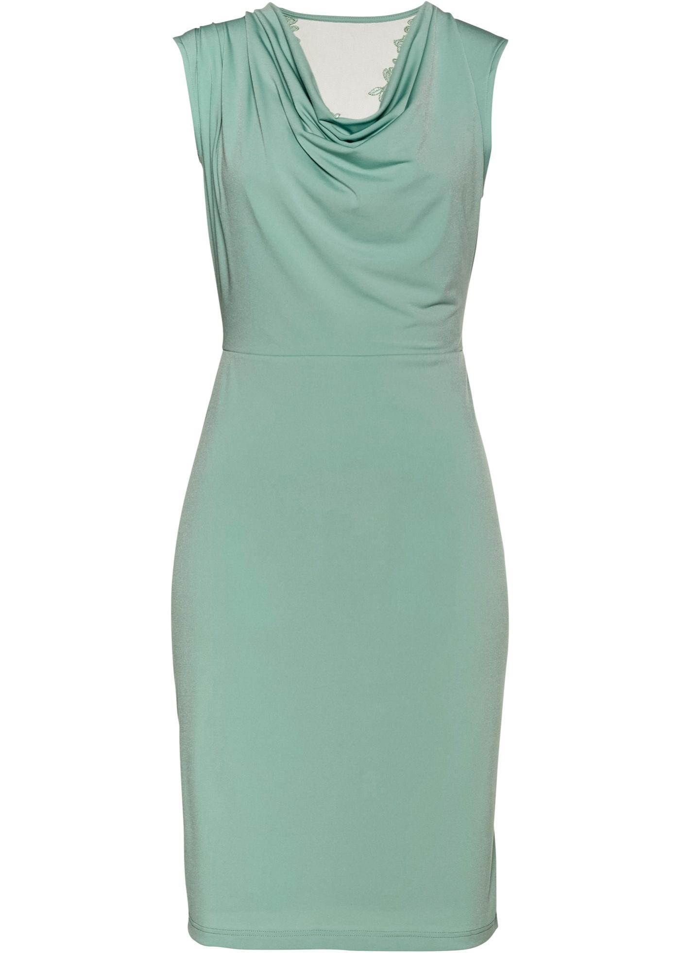 Kleid mit Spitze im Rücken ohne Ärmel  in grün für Damen von bonprix