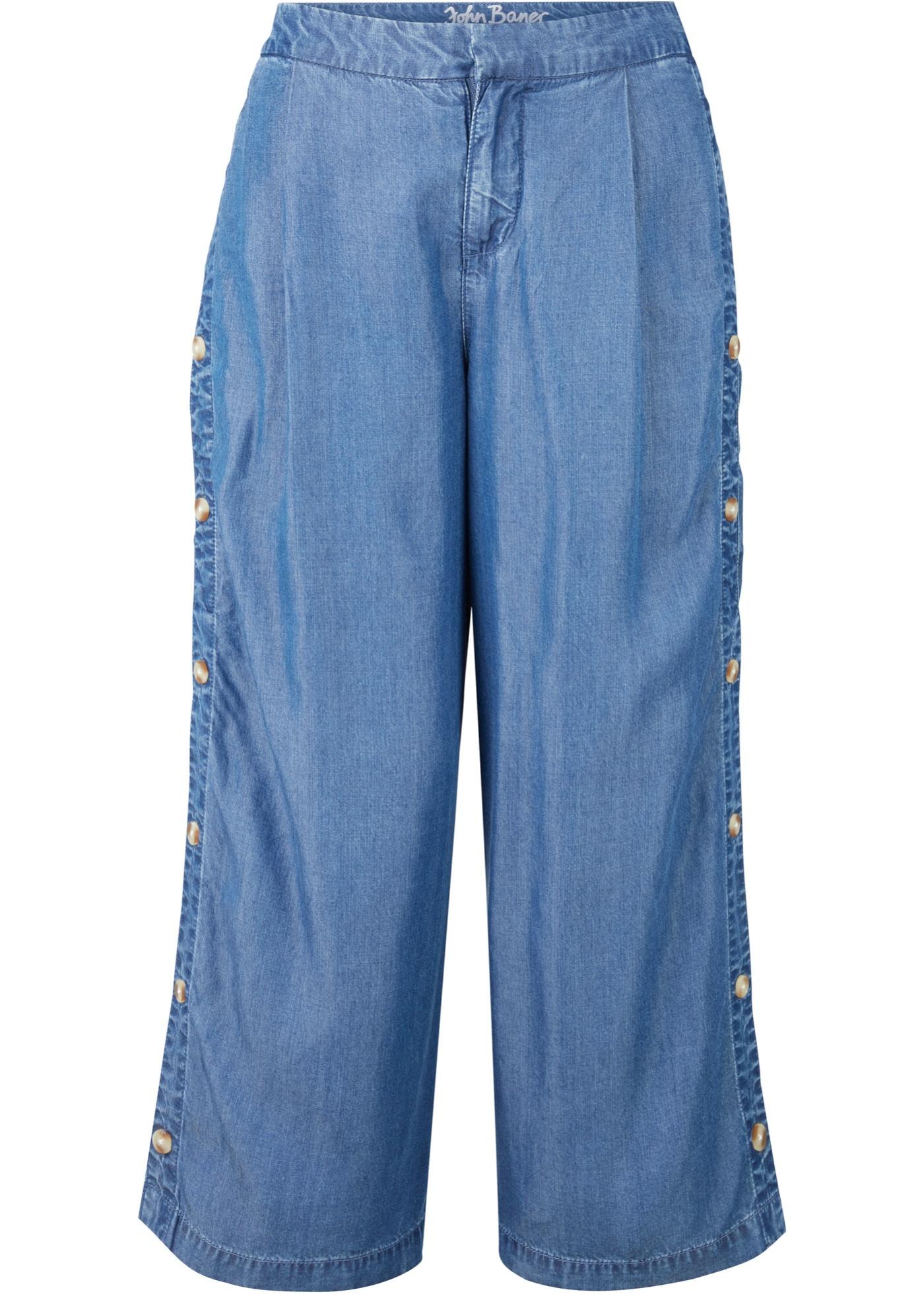 Nachhaltige Culotte aus TENCEL™ Lyocell in blau für Damen von bonprix