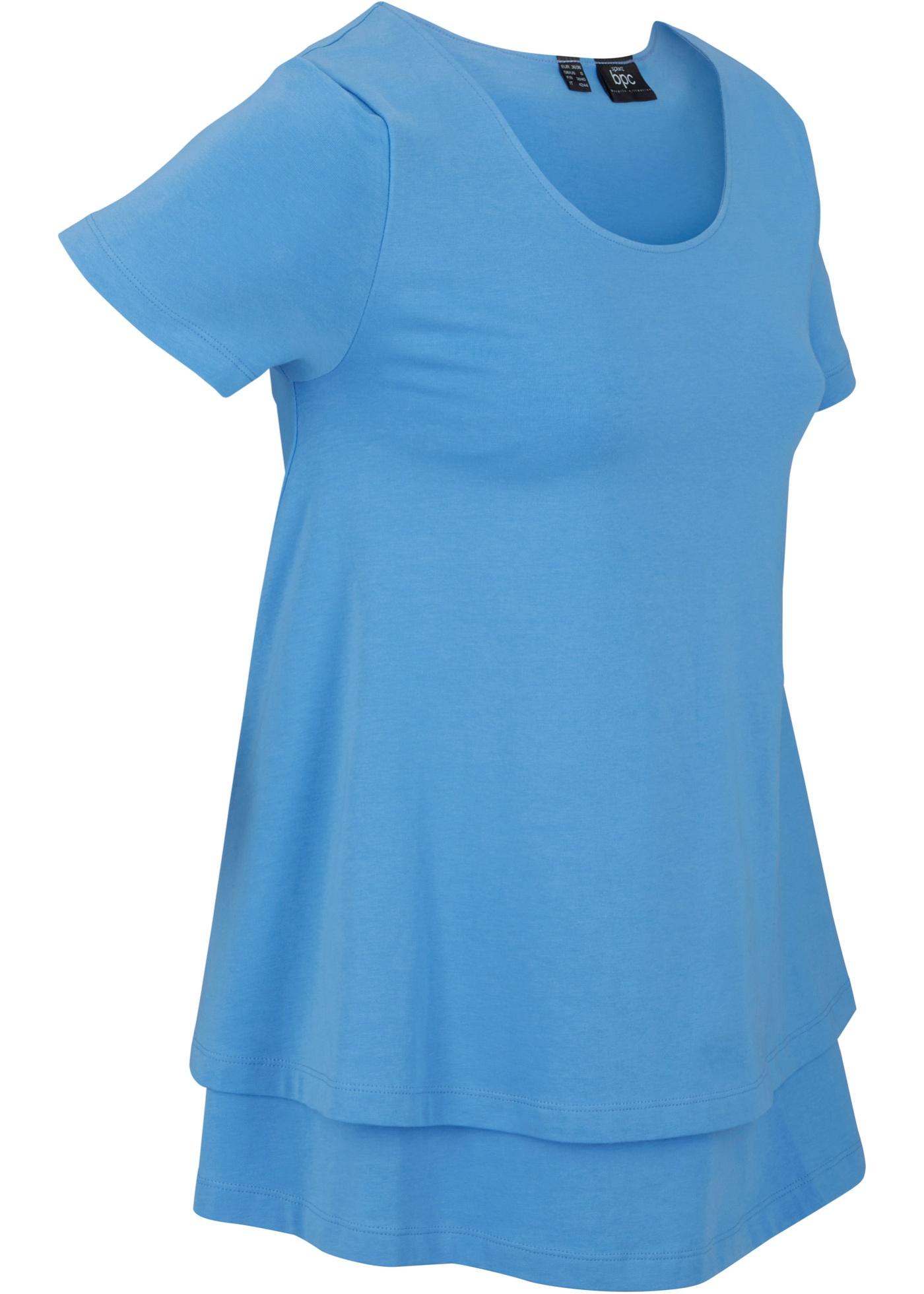 Nachhaltiges Sport-Shirt kurzer Arm  in blau für Damen von bonprix