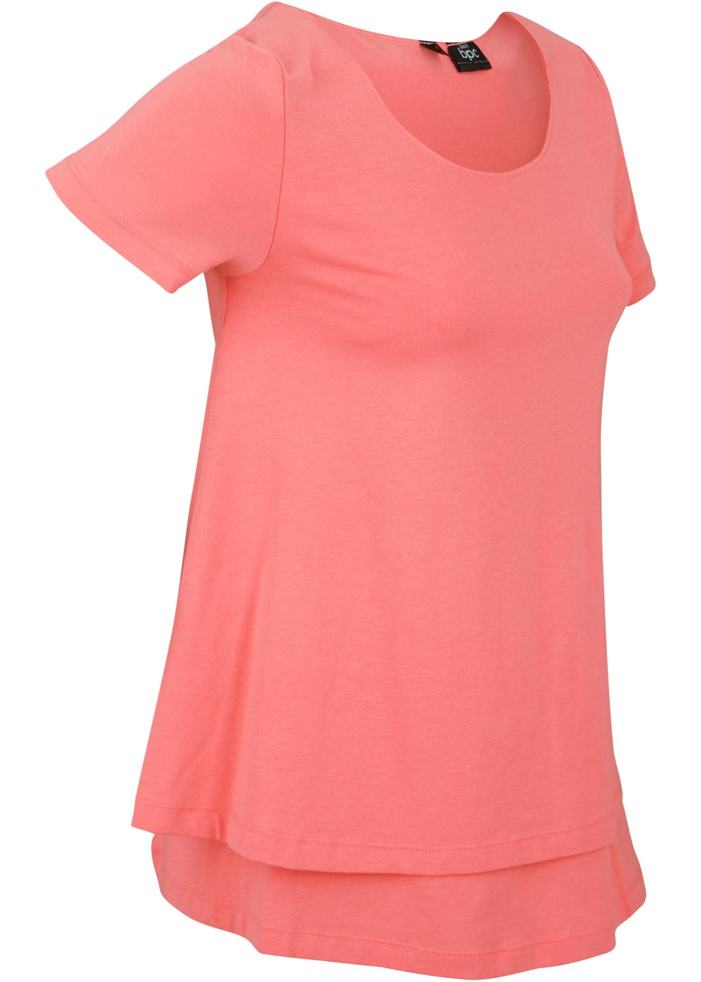 Nachhaltiges Sport-Shirt kurzer Arm  in rosa für Damen von bonprix