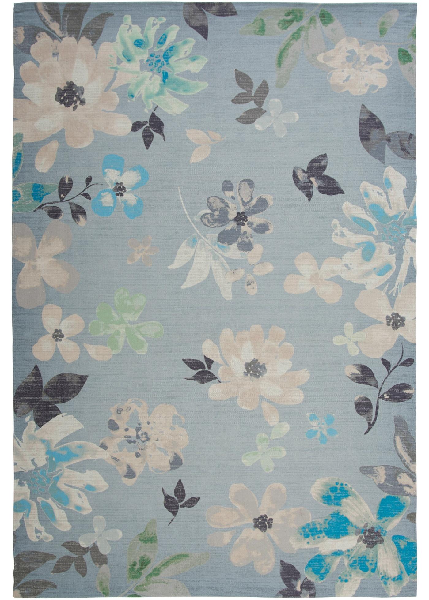 Teppich mit floralem Druck in grün von bonprix