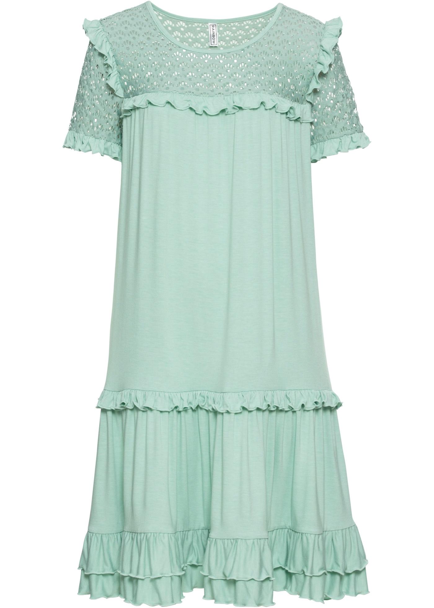 Kleid kurzer Arm  in blau für Damen von bonprix
