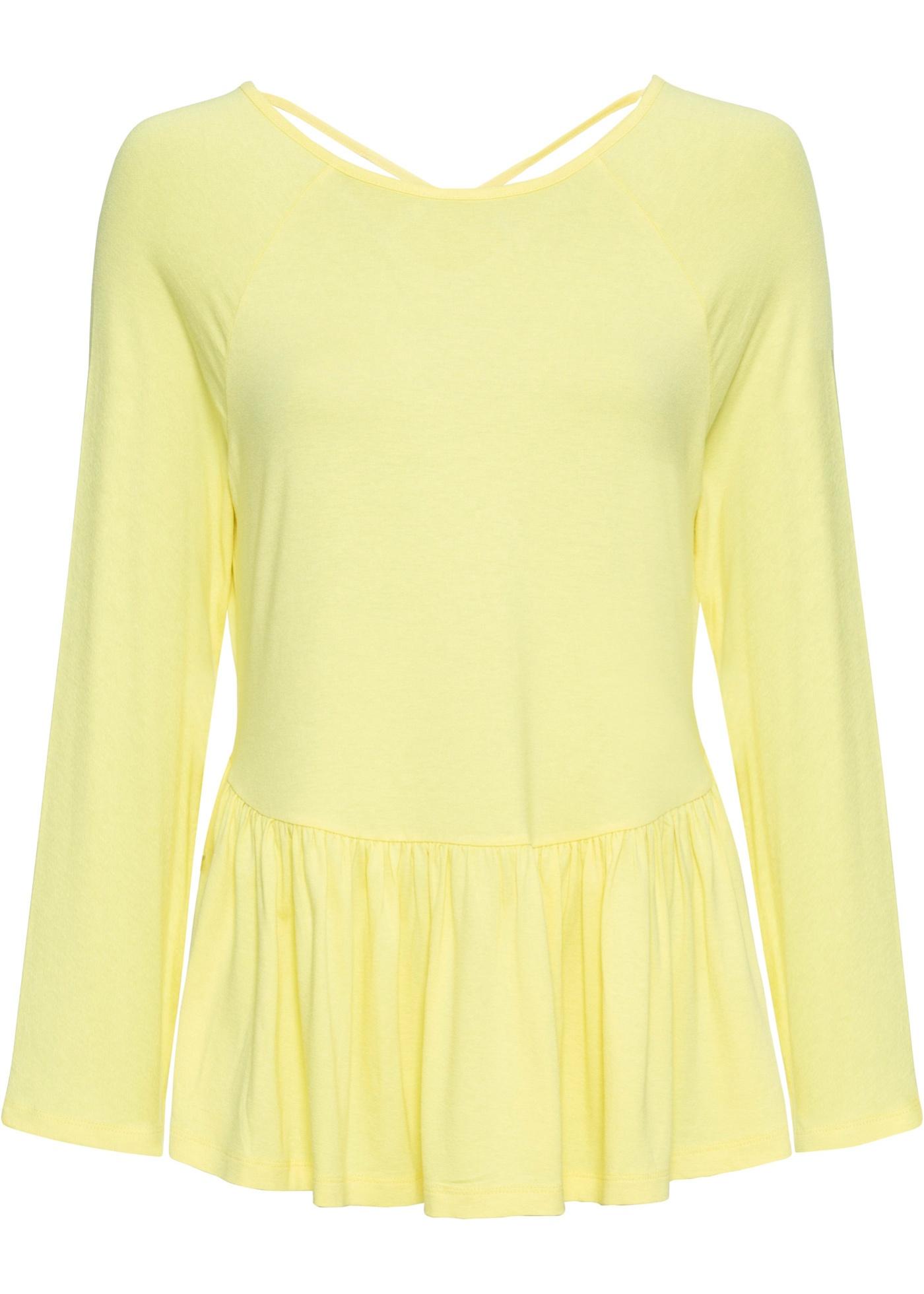 Shirt halber Arm  in gelb für Damen von bonprix