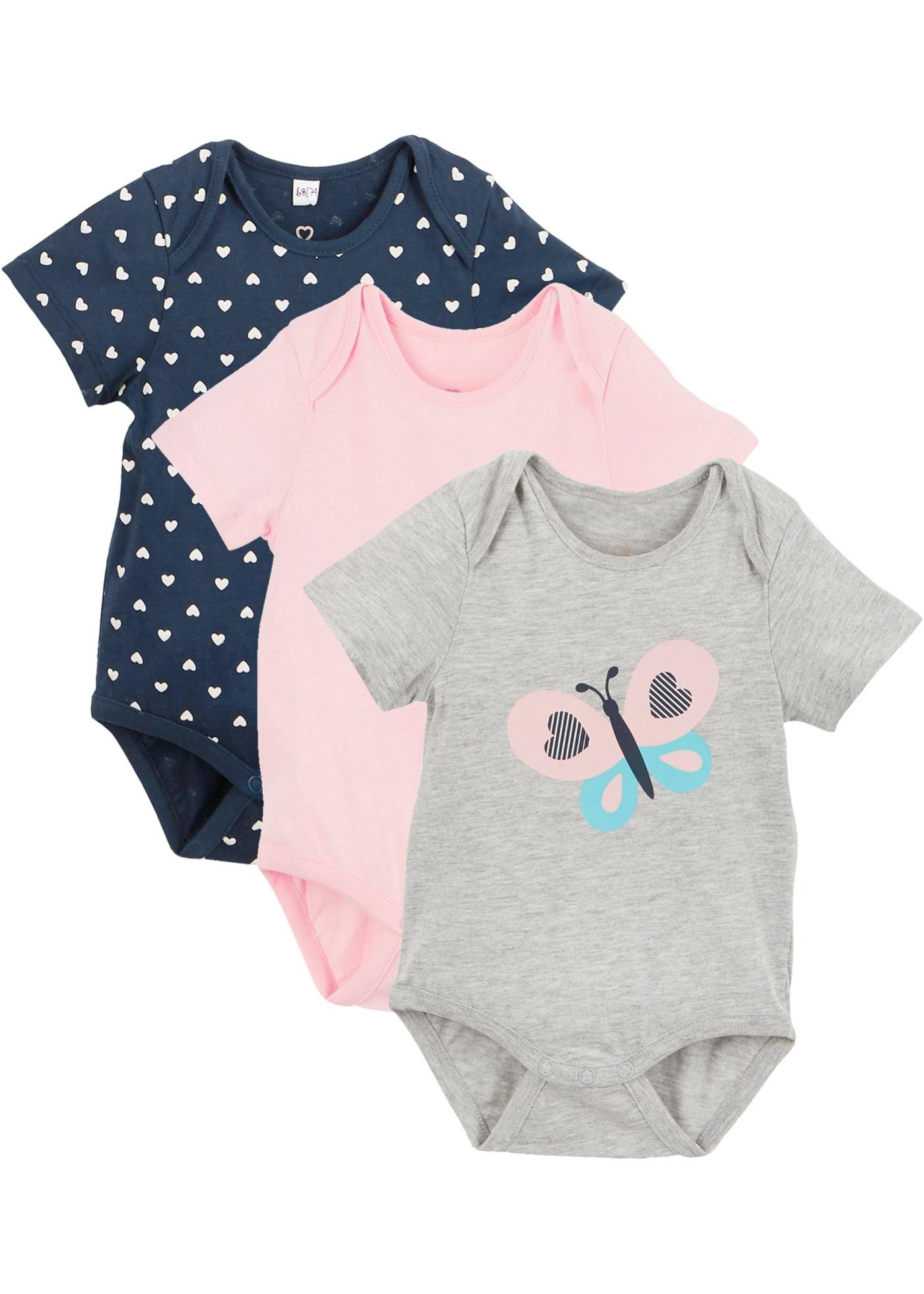 Baby Kurzarmbody (3er-Pack) Bio-Baumwolle