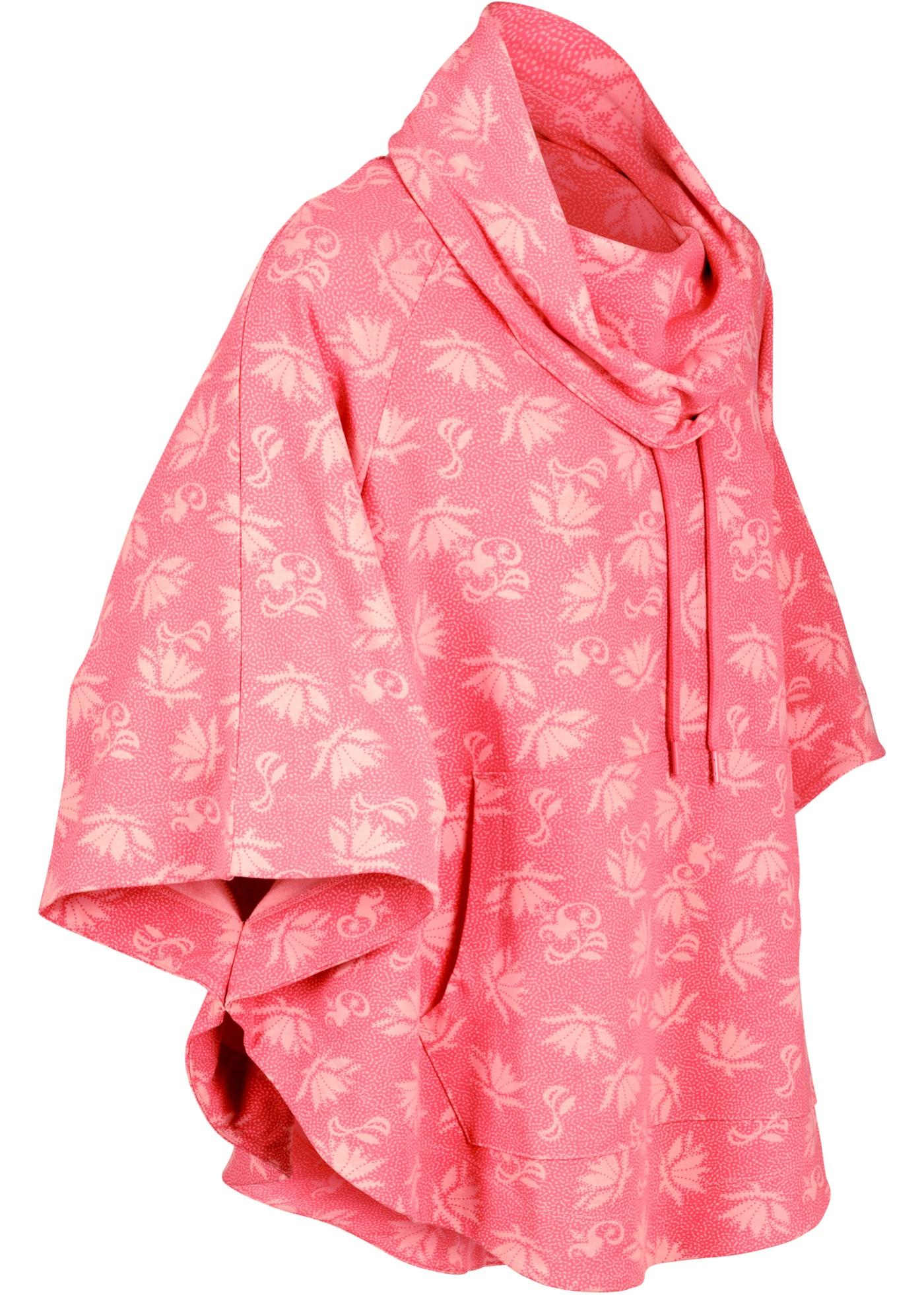 Leichter Sweat-Poncho halber Arm  in pink für Damen von bonprix