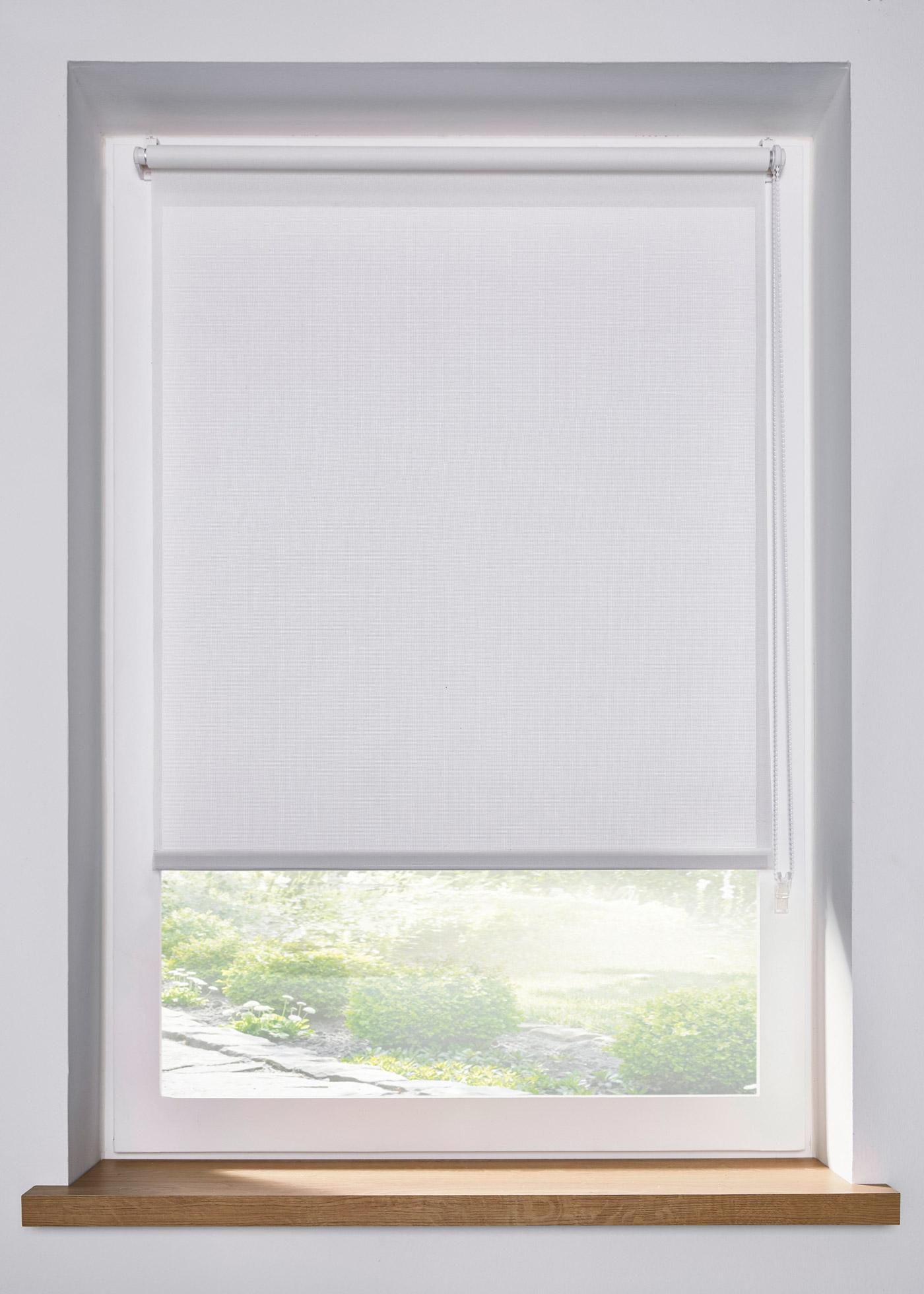 Blendschutz Seitenzugrollo einfarbig in weiß von bonprix