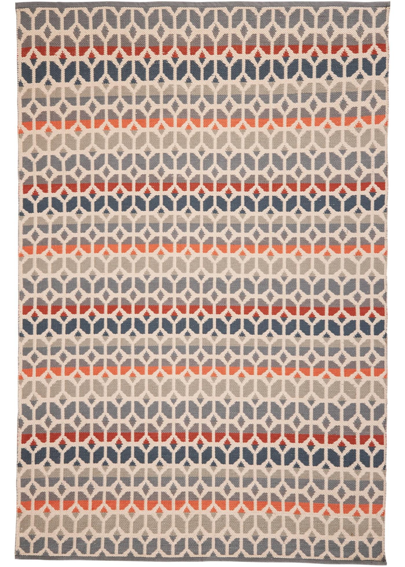 Kelim-Teppich in grafischer Optik in rot von bonprix
