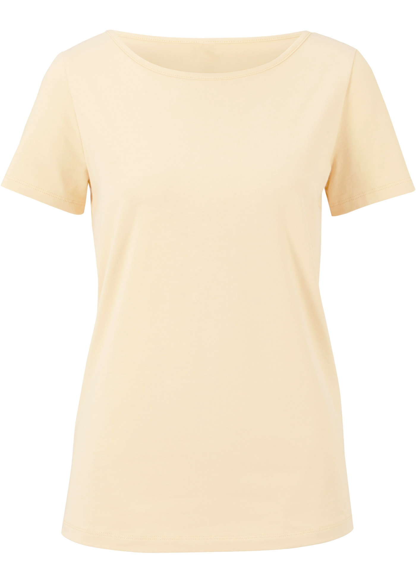 Naturfarben gefärbtes Shirt,  Bio - Baumwolle halber Arm  in beige für Damen von bonprix