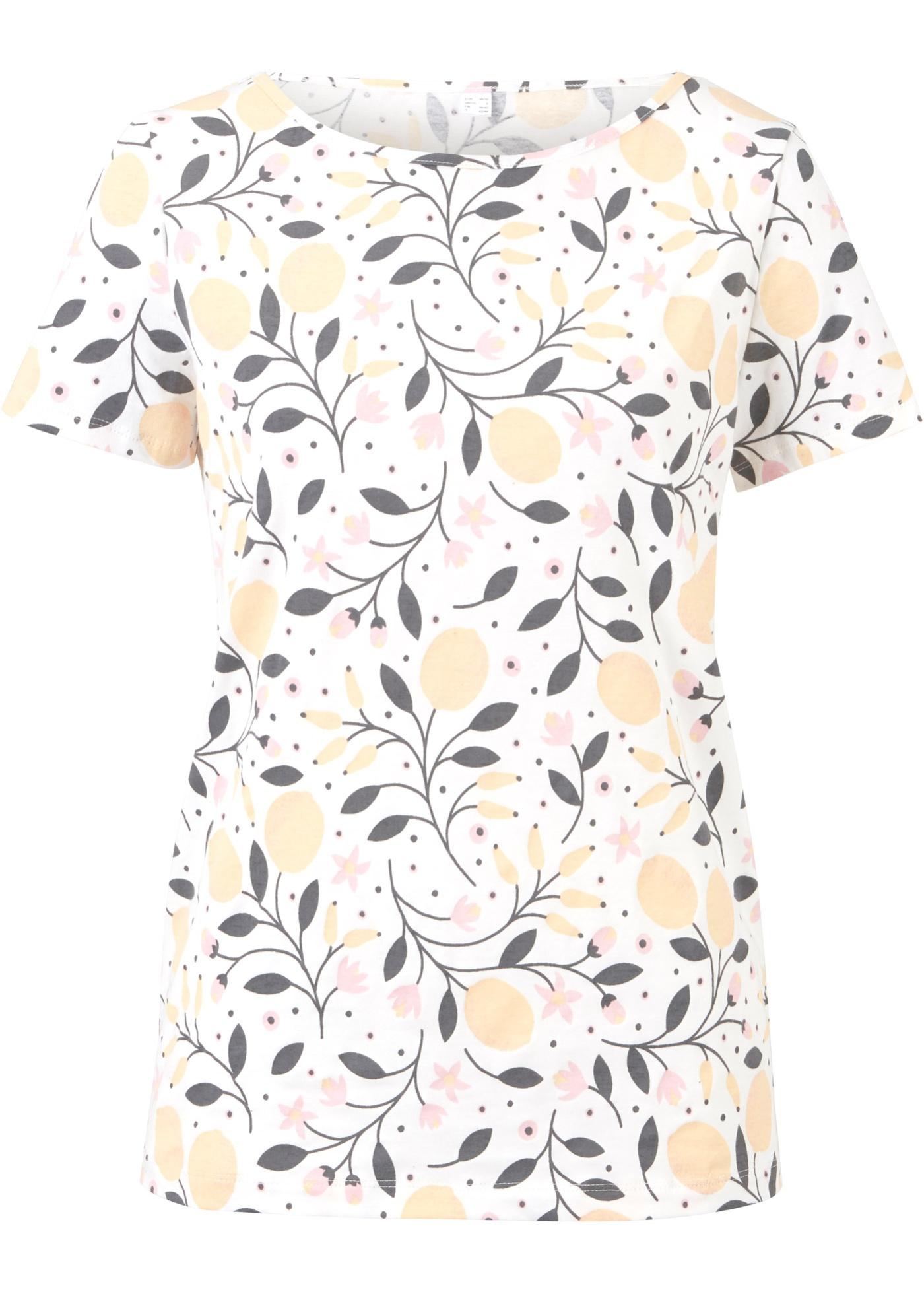 Naturfarben gefärbtes Shirt,  Bio - Baumwolle halber Arm  in weiß für Damen von bonprix