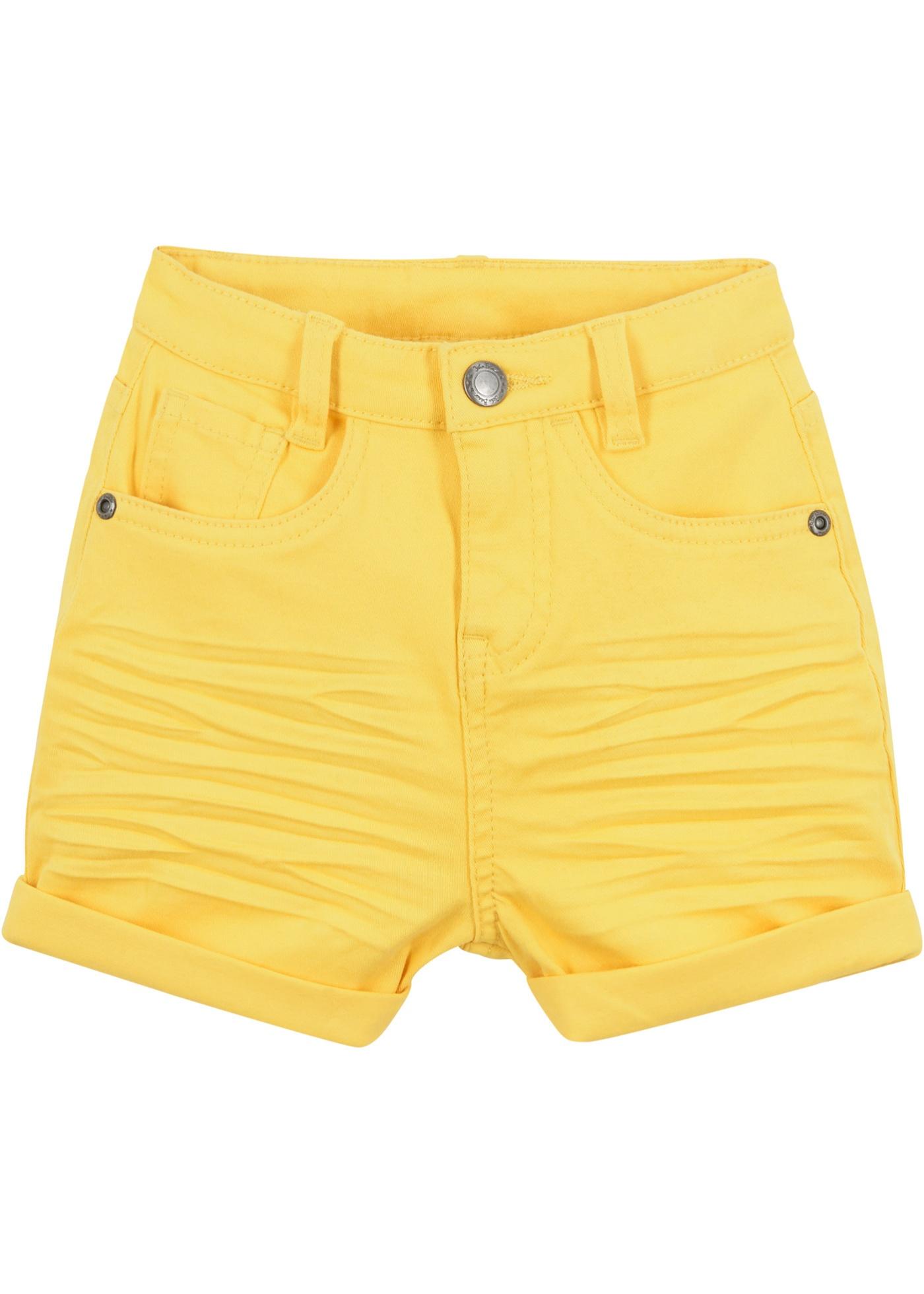 Mädchen Twillshorts in gelb für Mädchen von bonprix