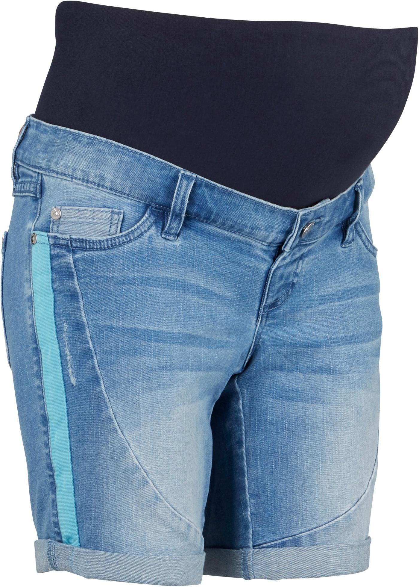 Umstandsjeans-Bermuda in blau für Damen von bonprix