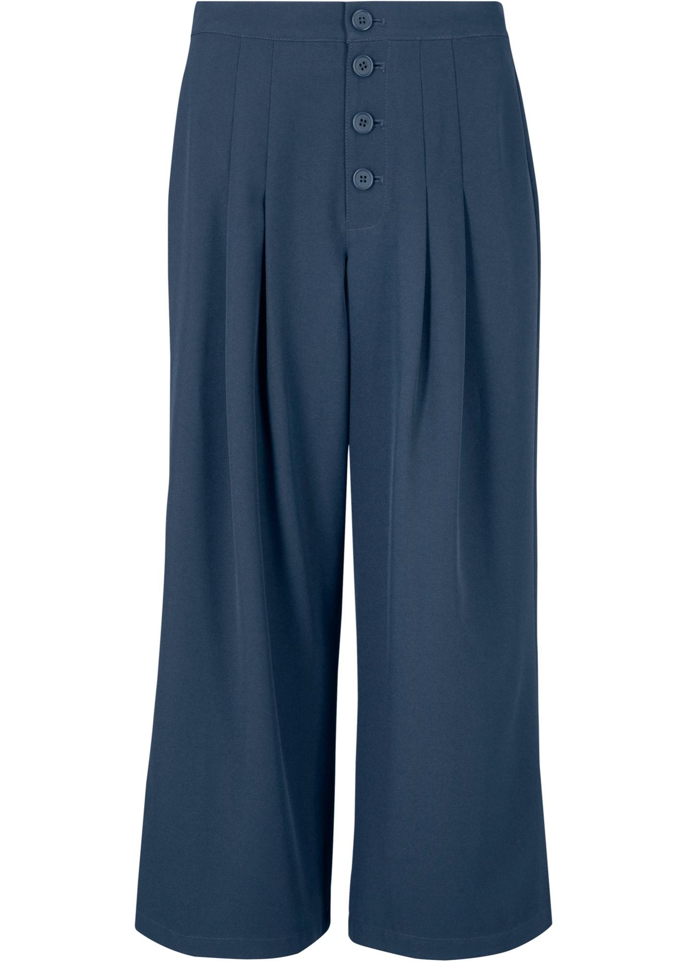 Culotte, wadenlang in blau für Damen von bonprix
