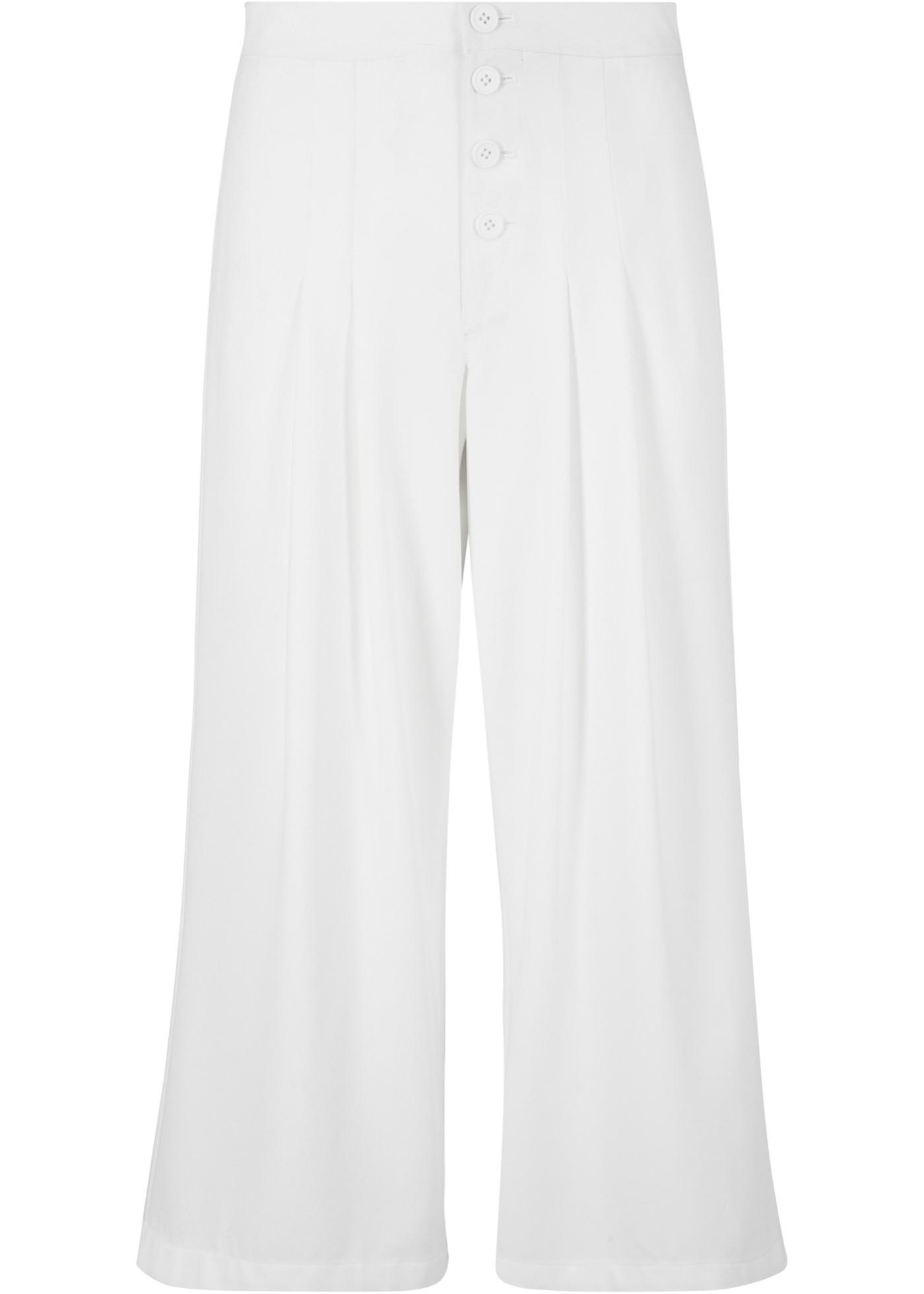 Culotte, wadenlang in weiß für Damen von bonprix
