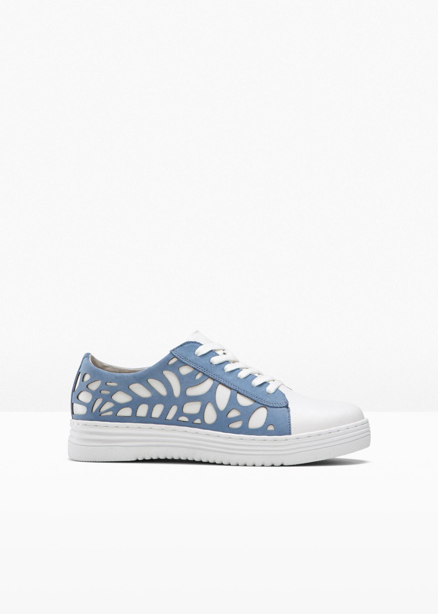 nachhaltiger Sneaker von Jana in H-Weite in weiß für Damen von bonprix