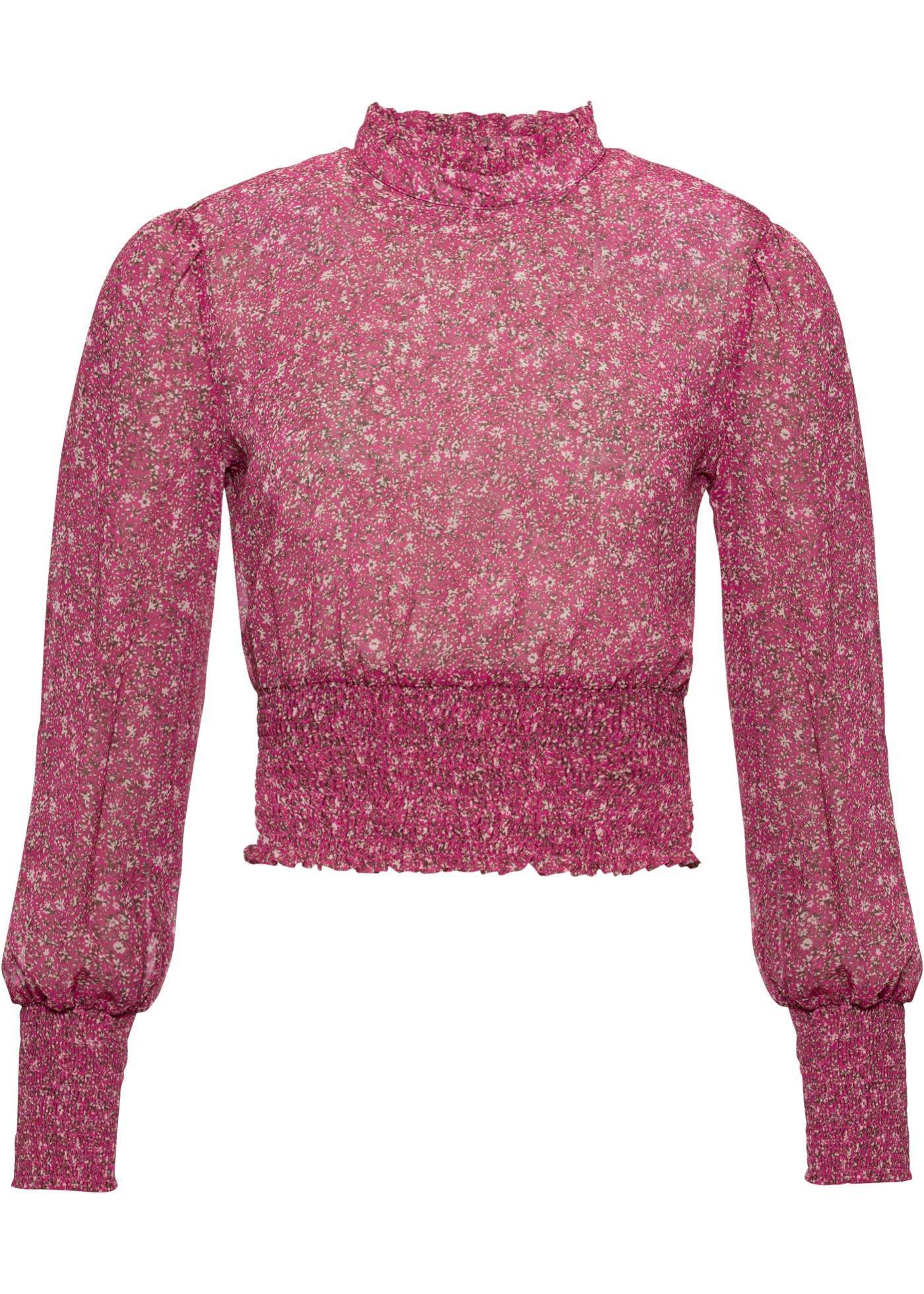 Blusenshirt langarm  in pink für Damen von bonprix