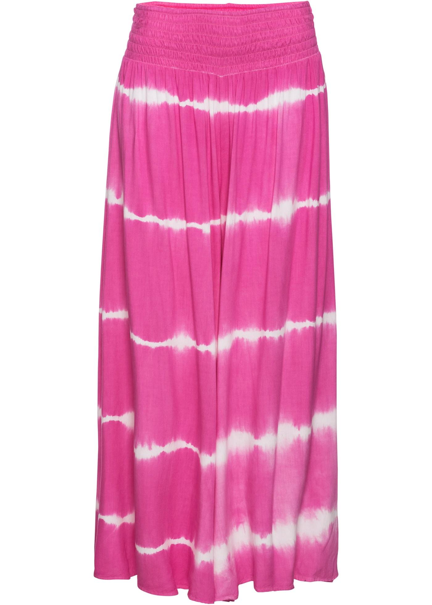 7/8-Hose mit Batik in pink für Damen von bonprix