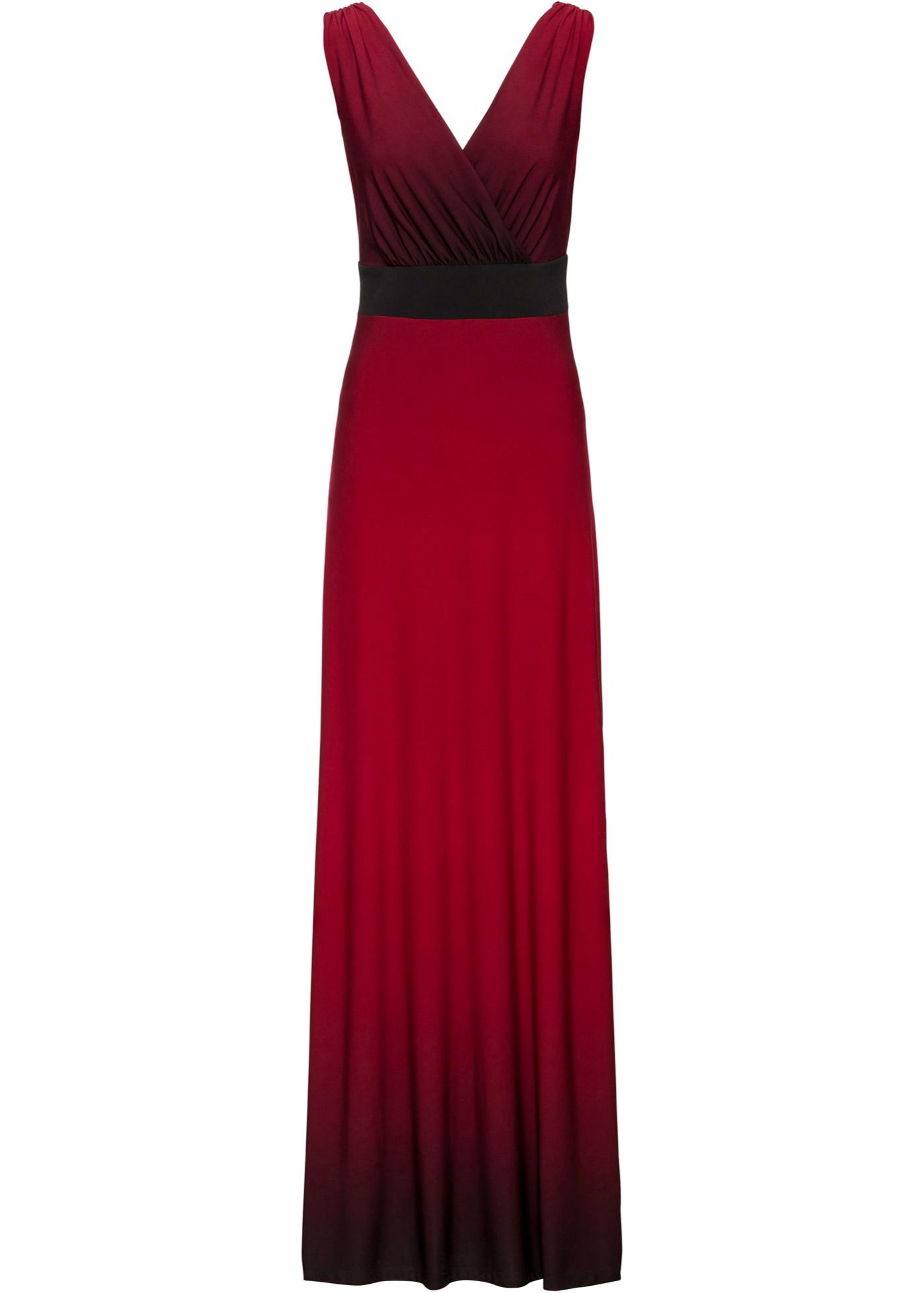 Festtagsmode - Abendkleid mit tiefen Ausschnitt › bonprix › rot  - Onlineshop Bonprix
