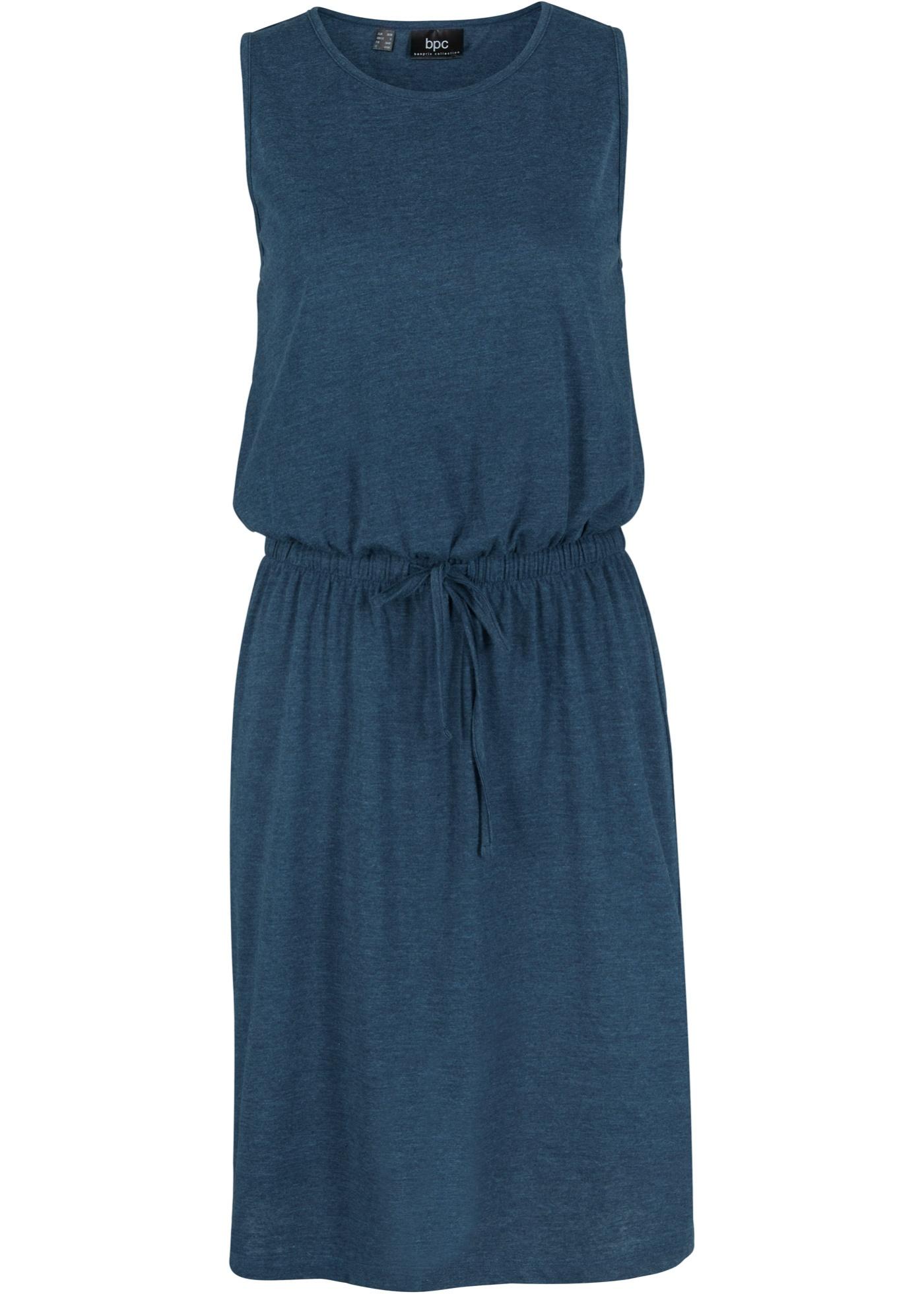 Kleid ohne Ärmel  in blau (Rundhals) für Damen von bonprix