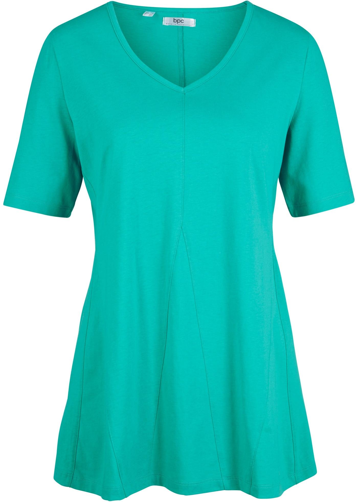 Baumwoll- Shirt halber Arm  in grün für Damen von bonprix