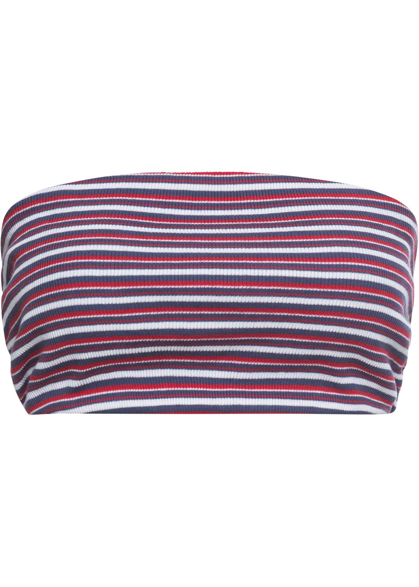 Bandeau-Top in Rippe ohne Ärmel  in rot für Damen von bonprix