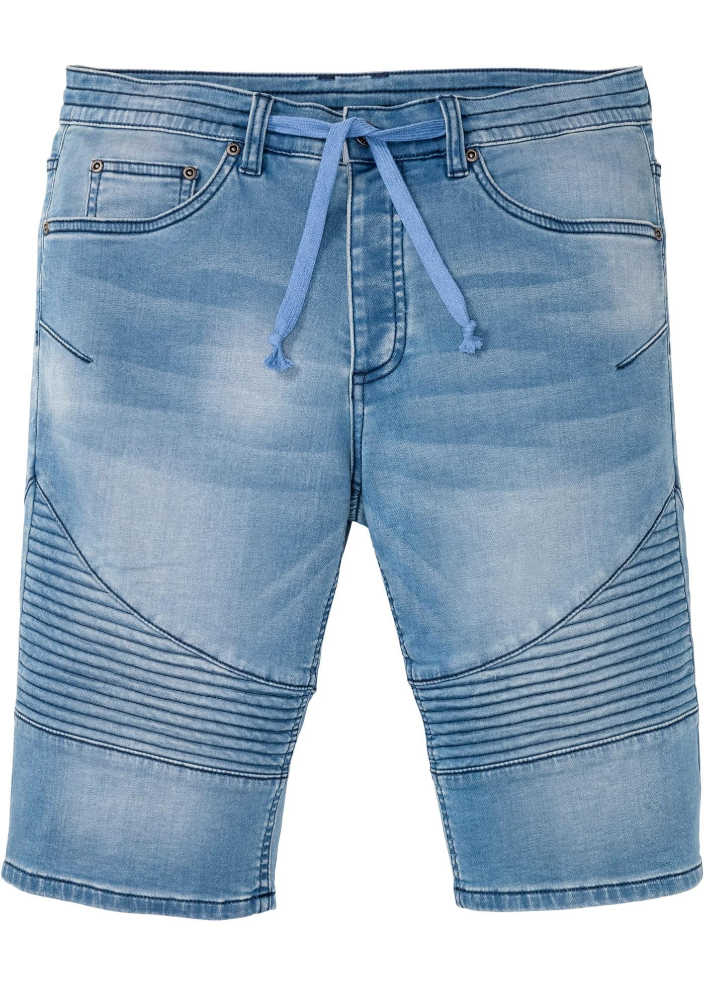 Regular Fit Sweatjeans-Bermuda in blau für Herren von bonprix