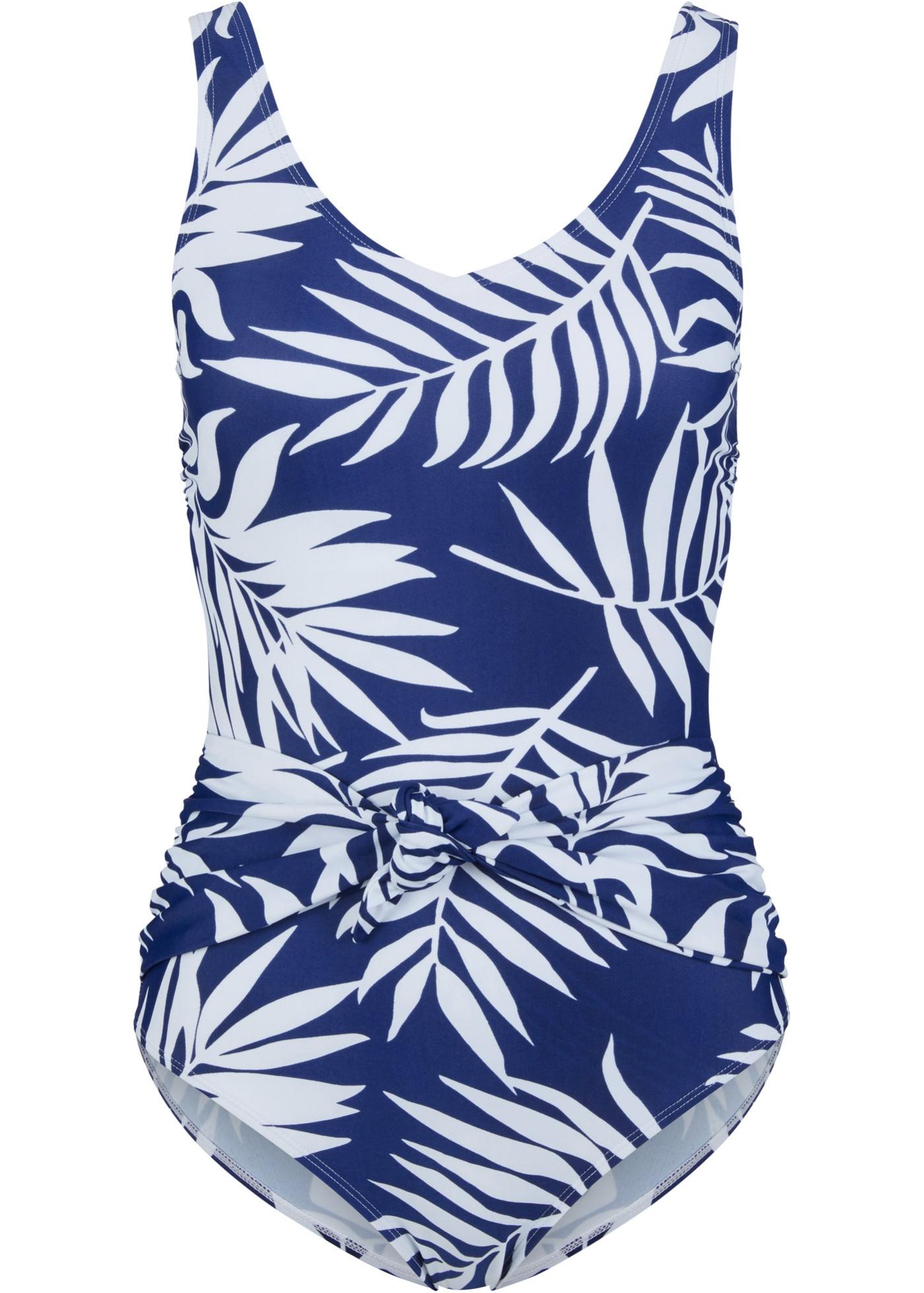 Badeanzug in blau für Damen von bonprix