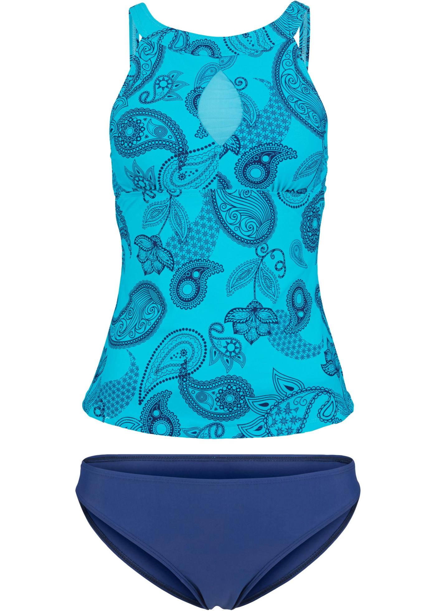 Tankini (2-tlg. Set) in blau für Damen von bonprix