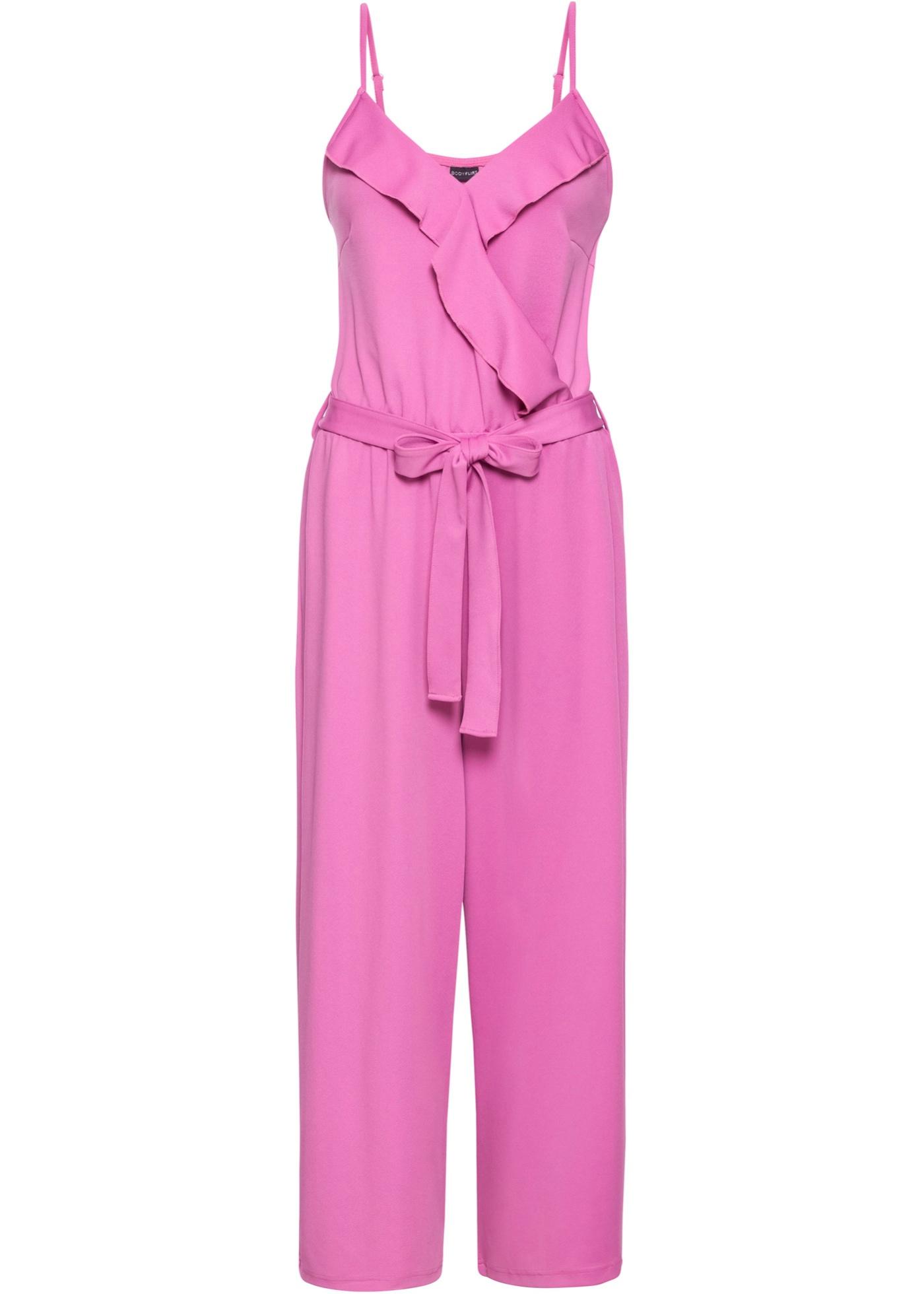 Jersey-Overall ohne Ärmel  in pink für Damen von bonprix